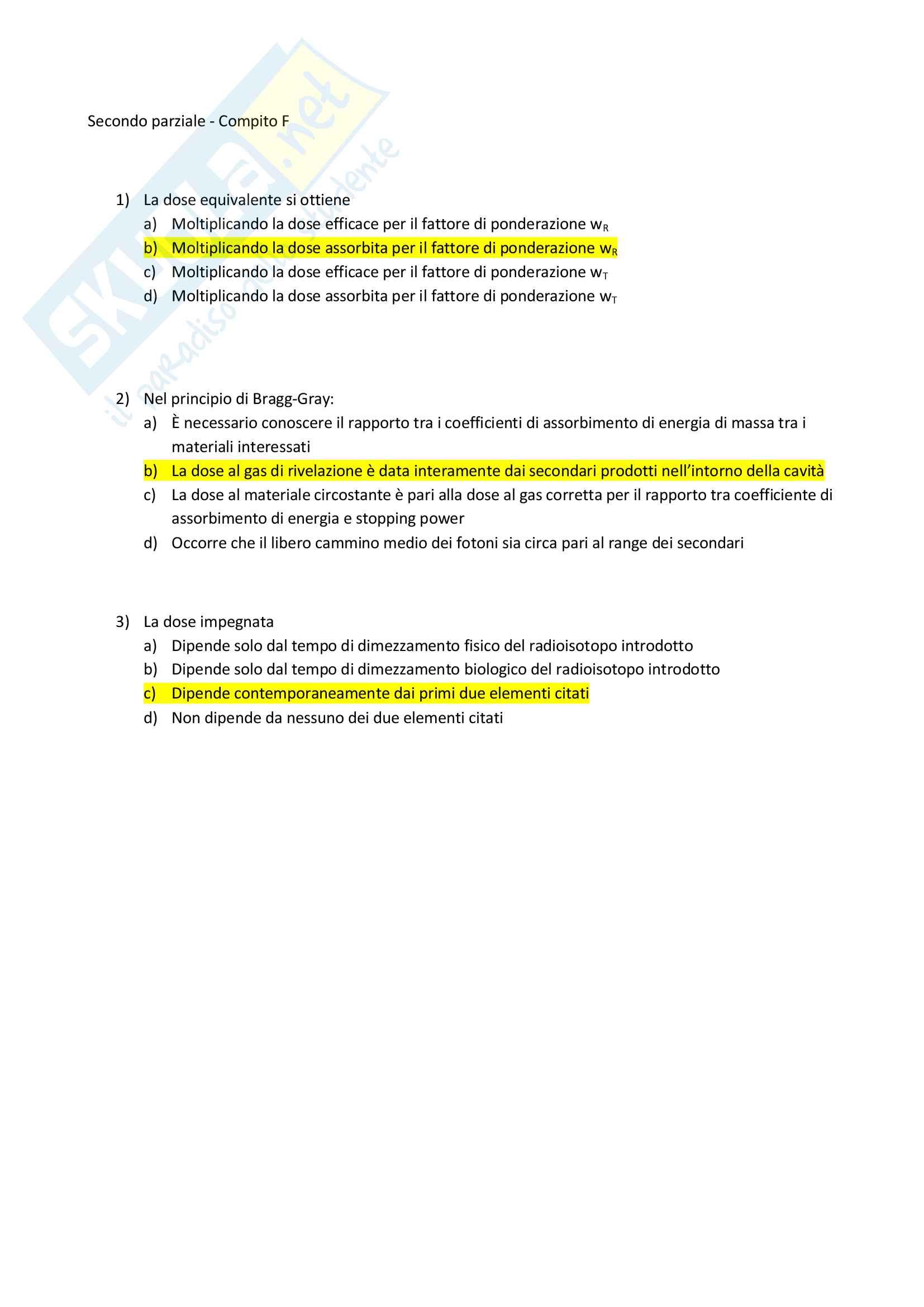 Appunti e Simulazioni d'esame di Radioprotezione T Pag. 21