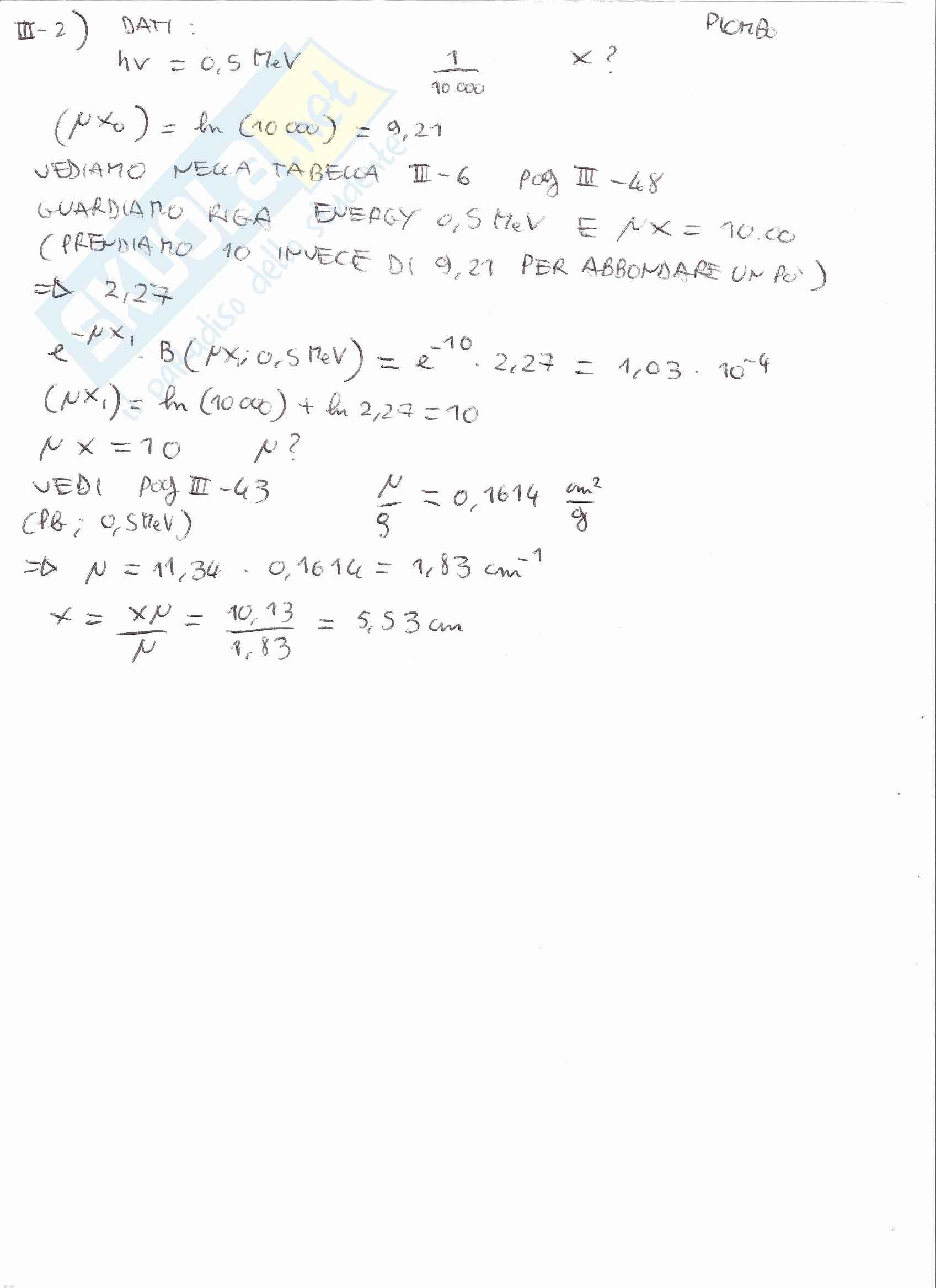 Appunti e Simulazioni d'esame di Radioprotezione T Pag. 36
