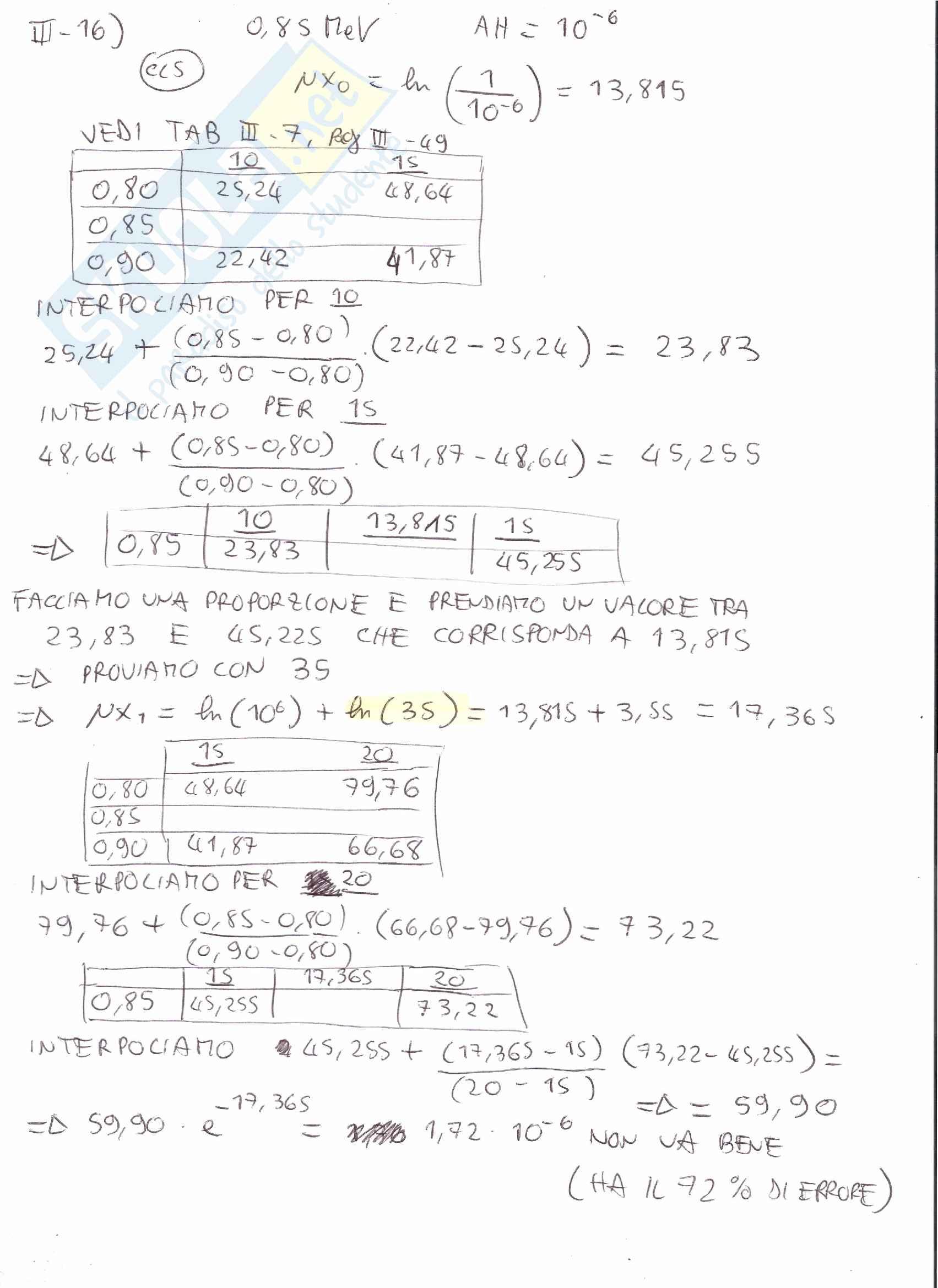 Appunti e Simulazioni d'esame di Radioprotezione T Pag. 41