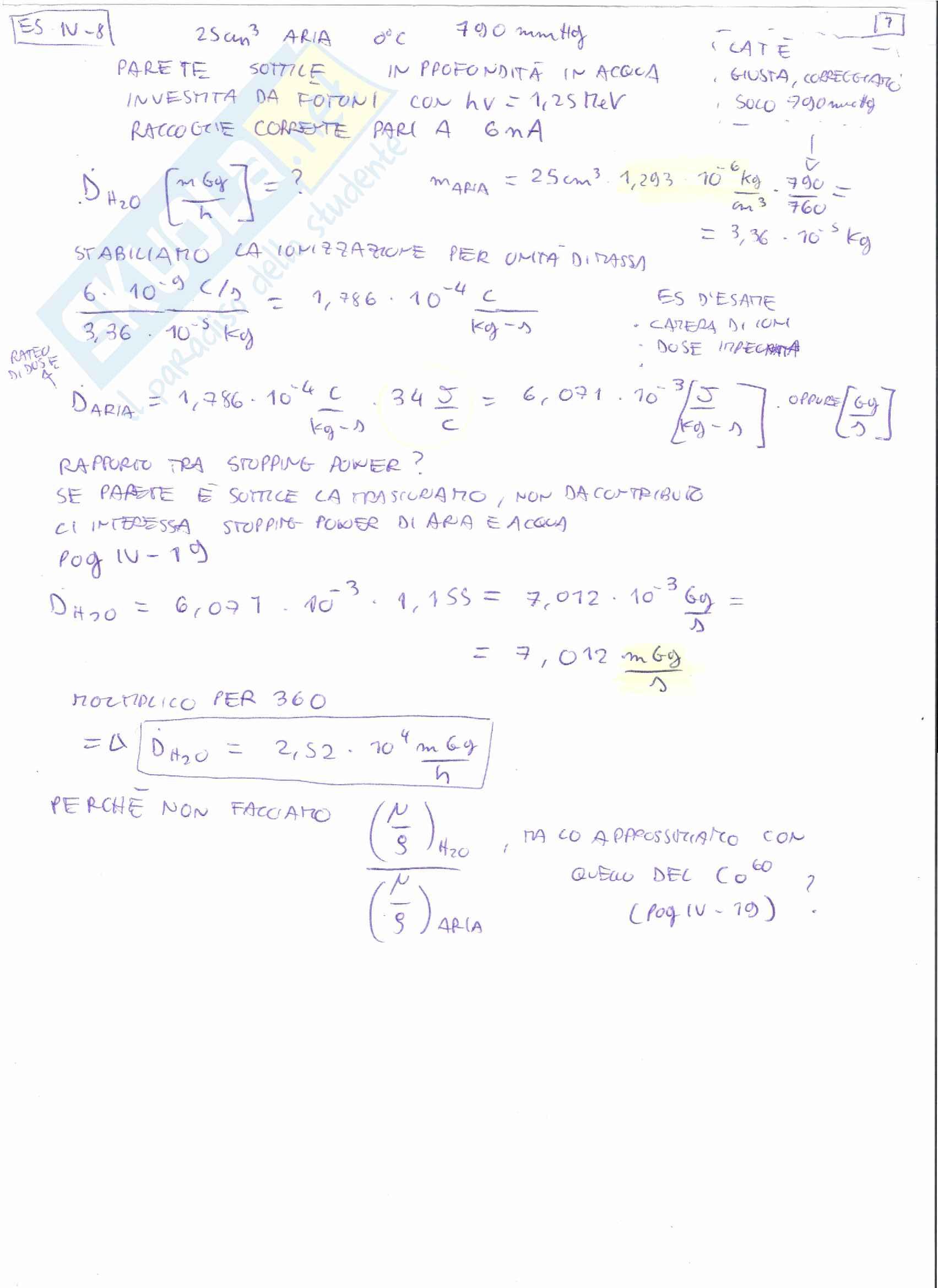 Appunti e Simulazioni d'esame di Radioprotezione T Pag. 51