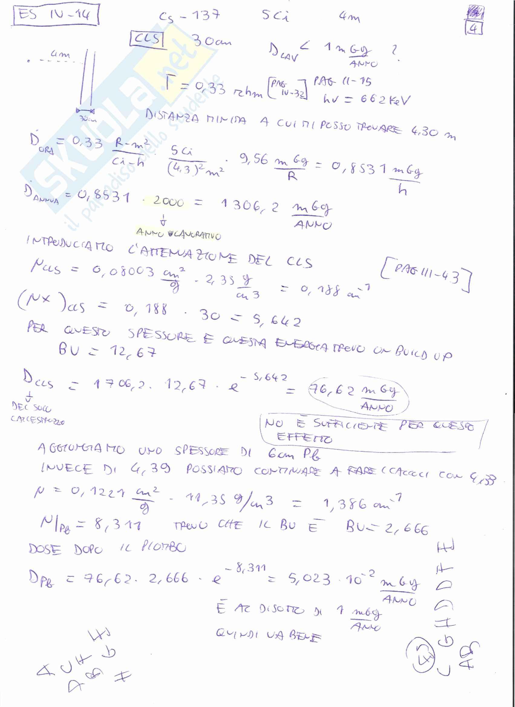 Appunti e Simulazioni d'esame di Radioprotezione T Pag. 56