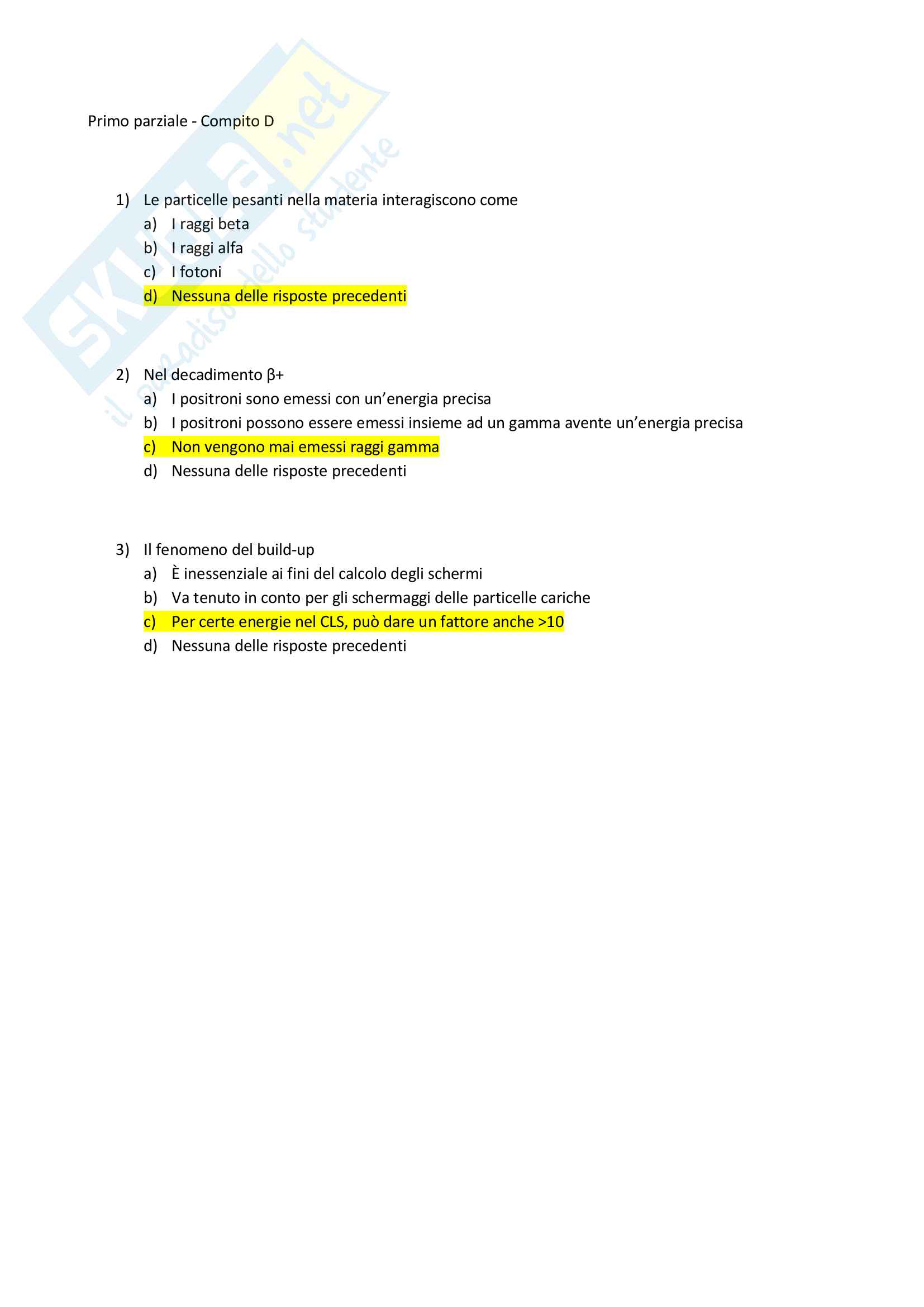 Appunti e Simulazioni d'esame di Radioprotezione T Pag. 6