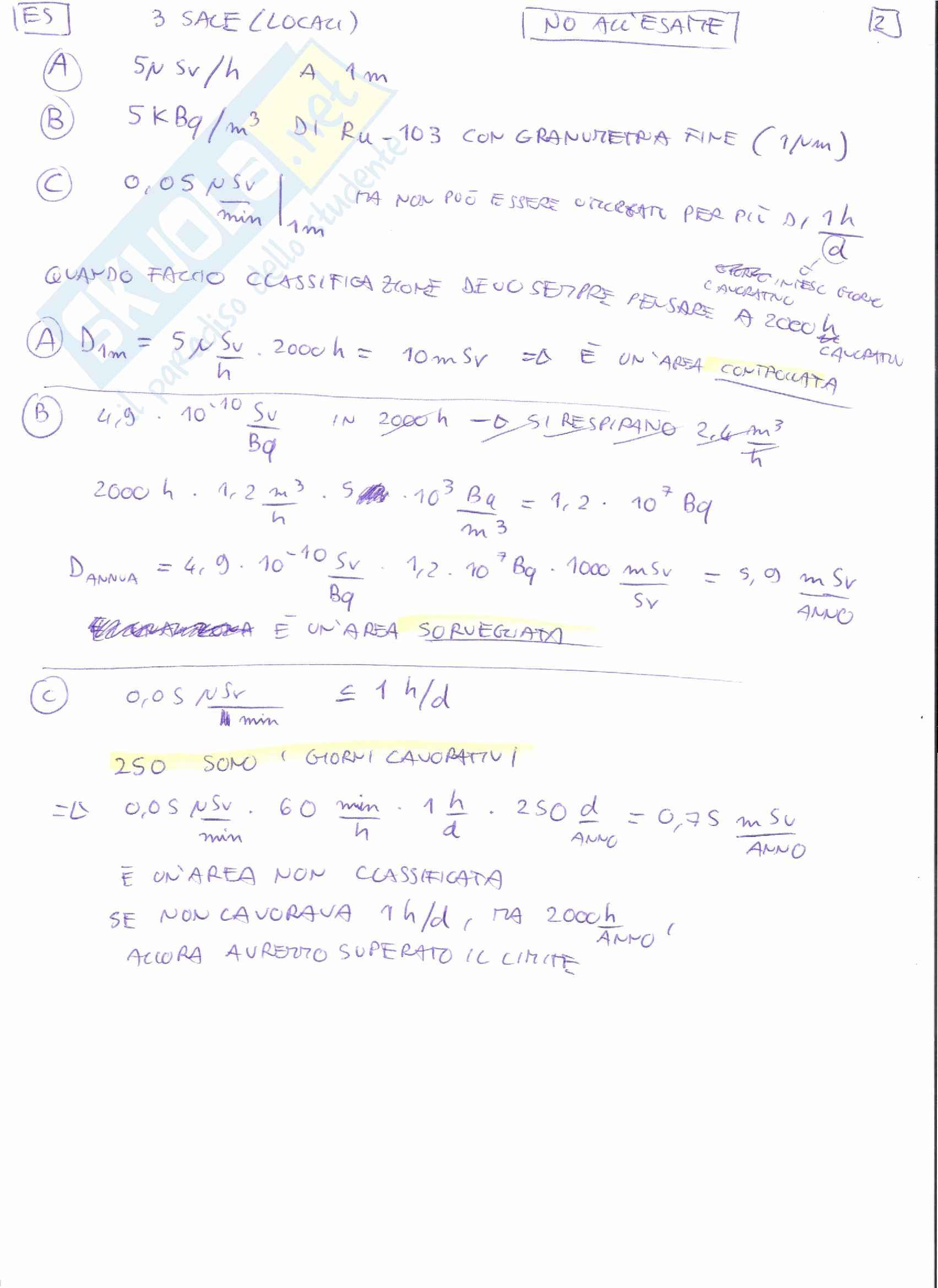 Appunti e Simulazioni d'esame di Radioprotezione T Pag. 71