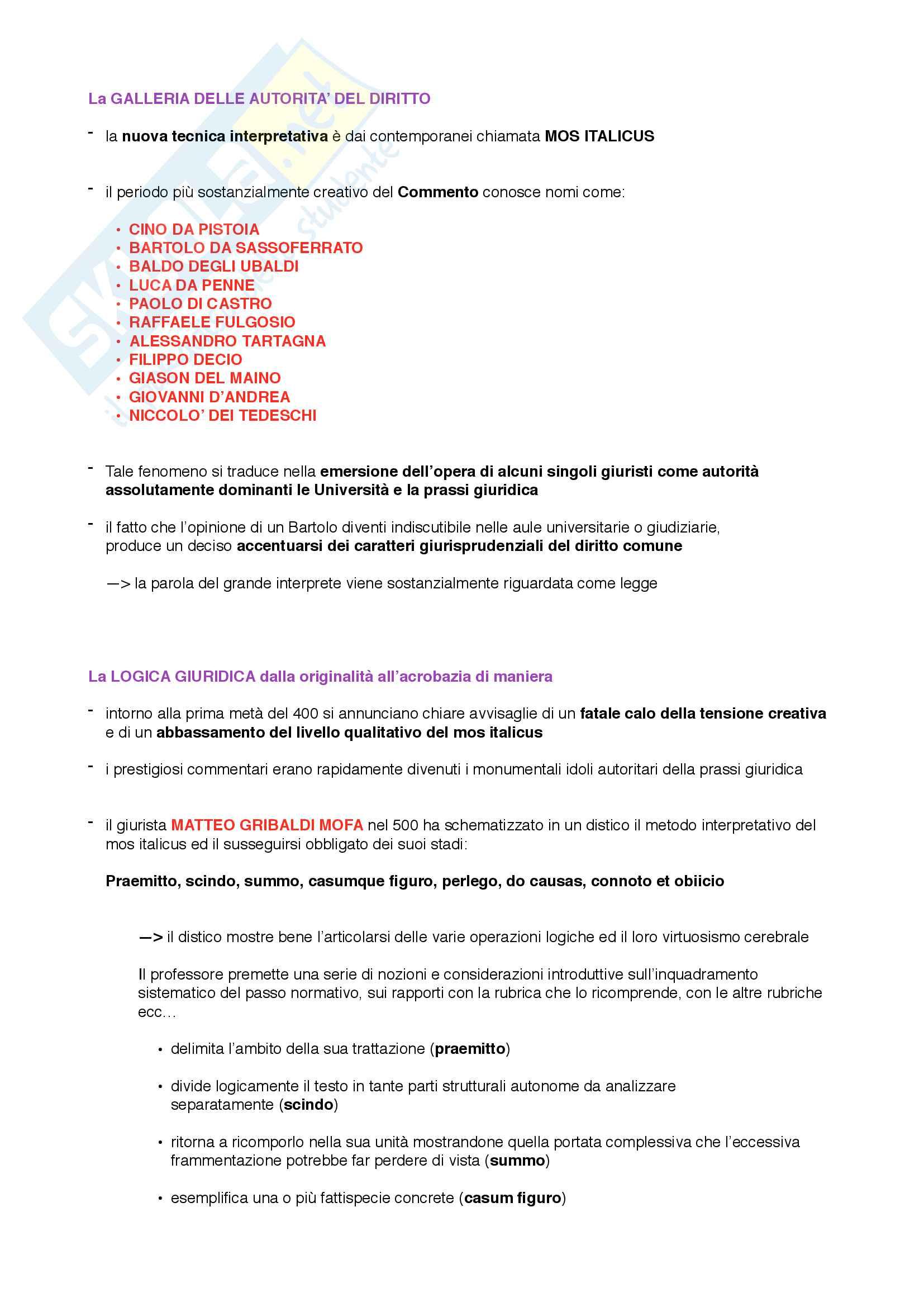 Storia del diritto italiano Pag. 41