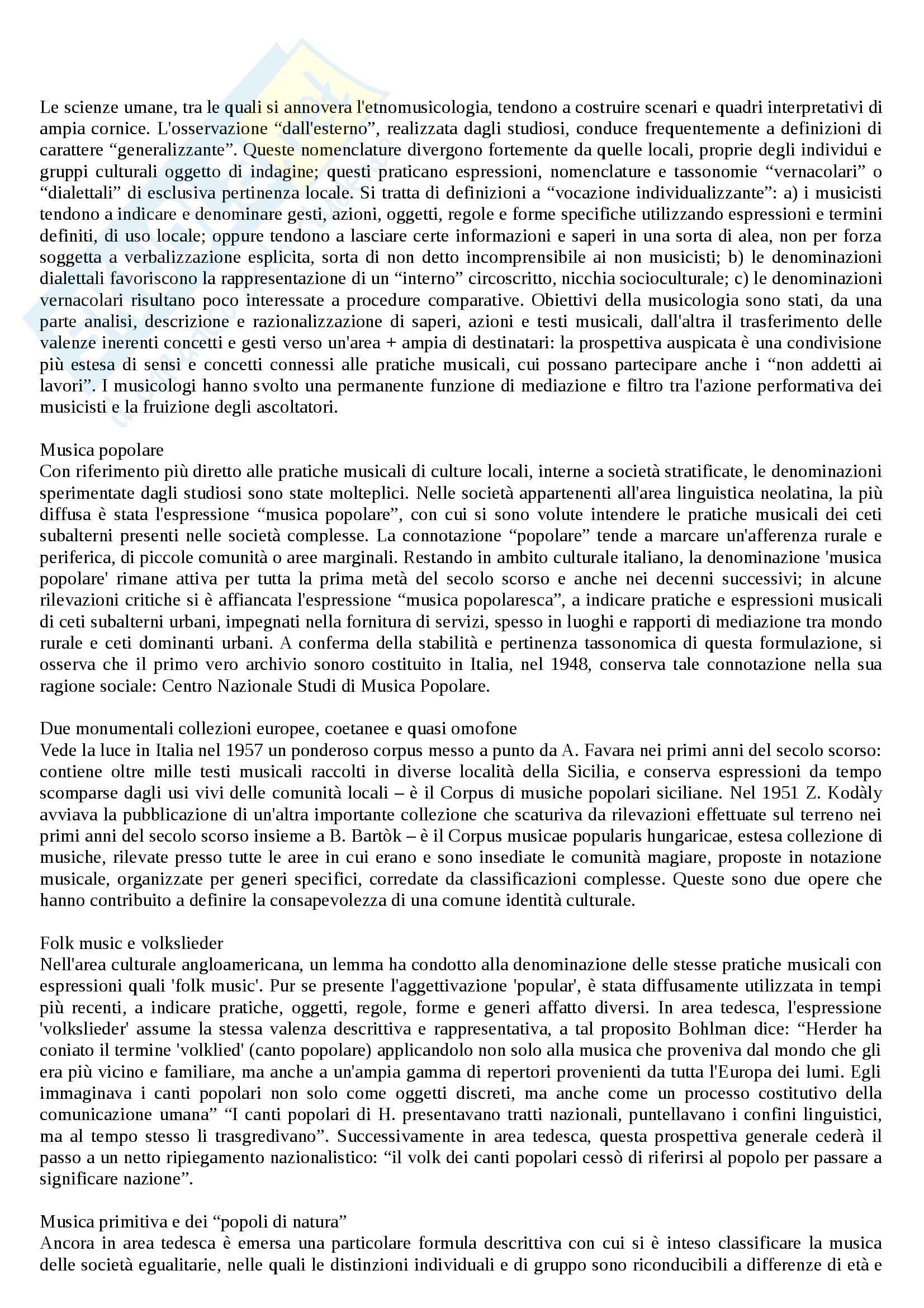 appunto M. Agamennone Etnomusicologia