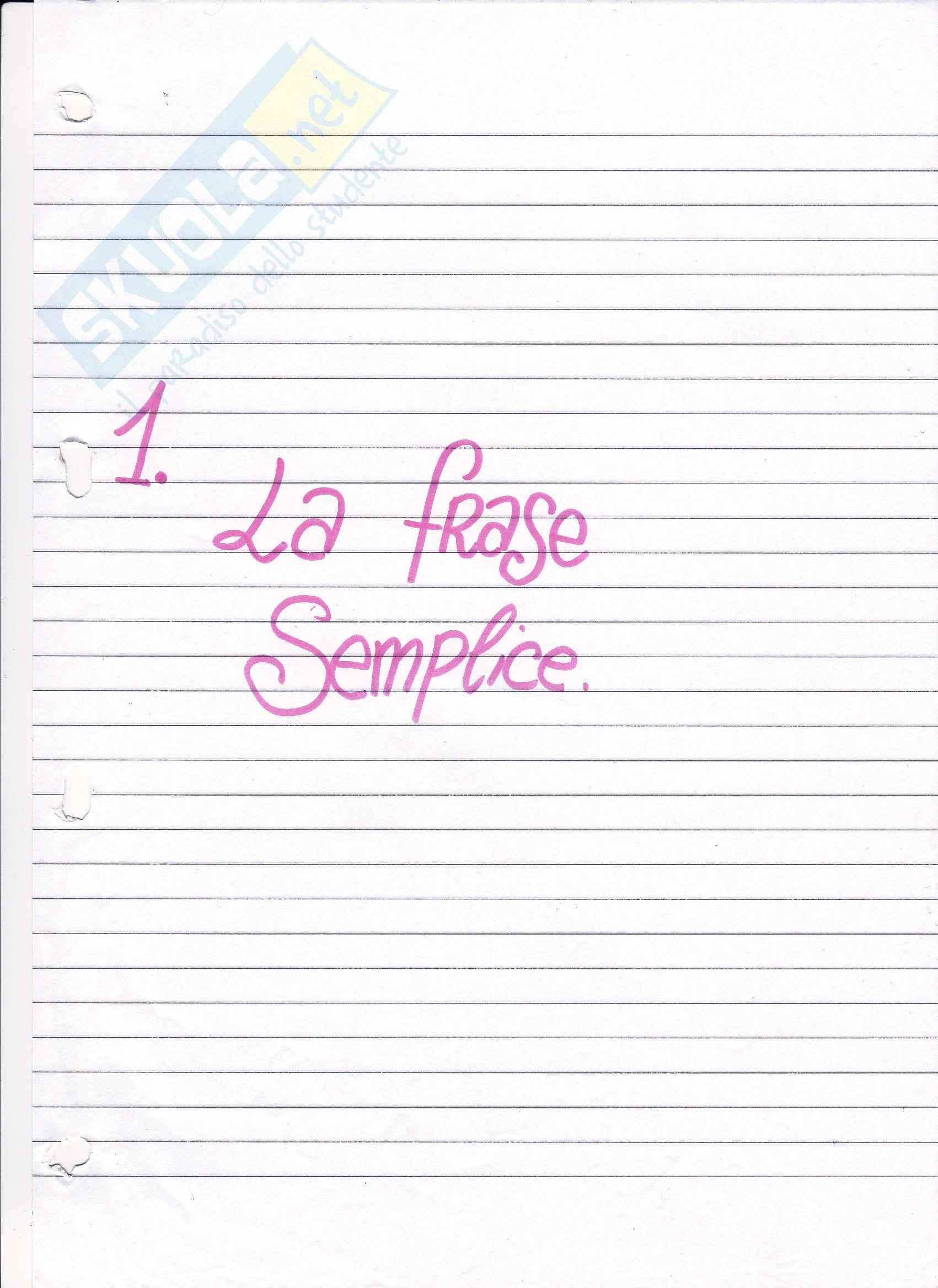 Linguistica Italiana - Appunti