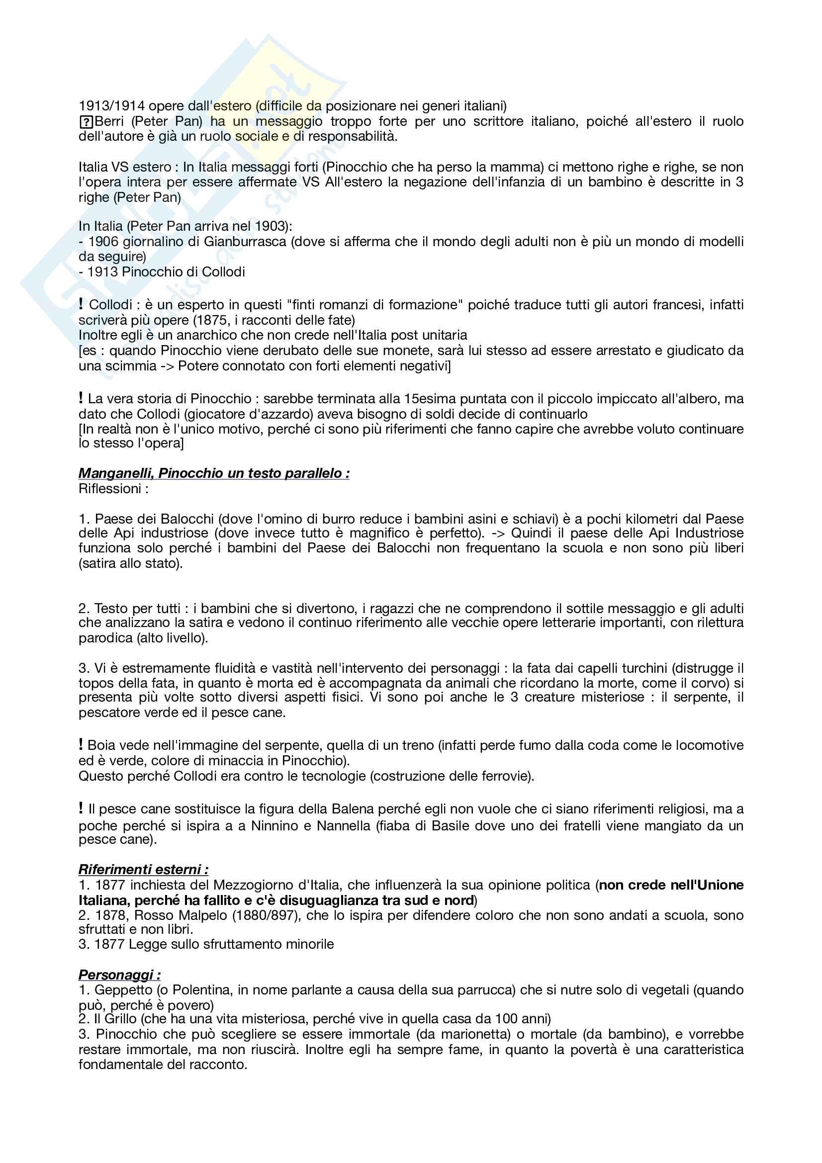 Appunti Letteratura per ragazzi (versione più dettagliata) Pag. 26