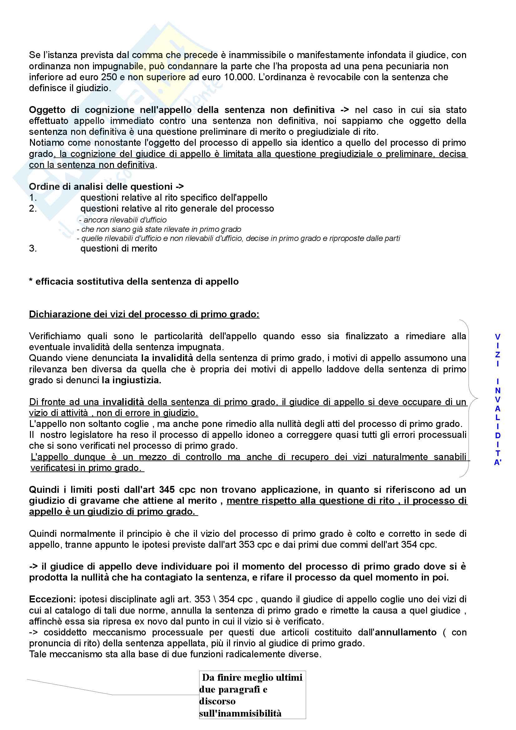 Diritto processuale civile: l'appello Pag. 6