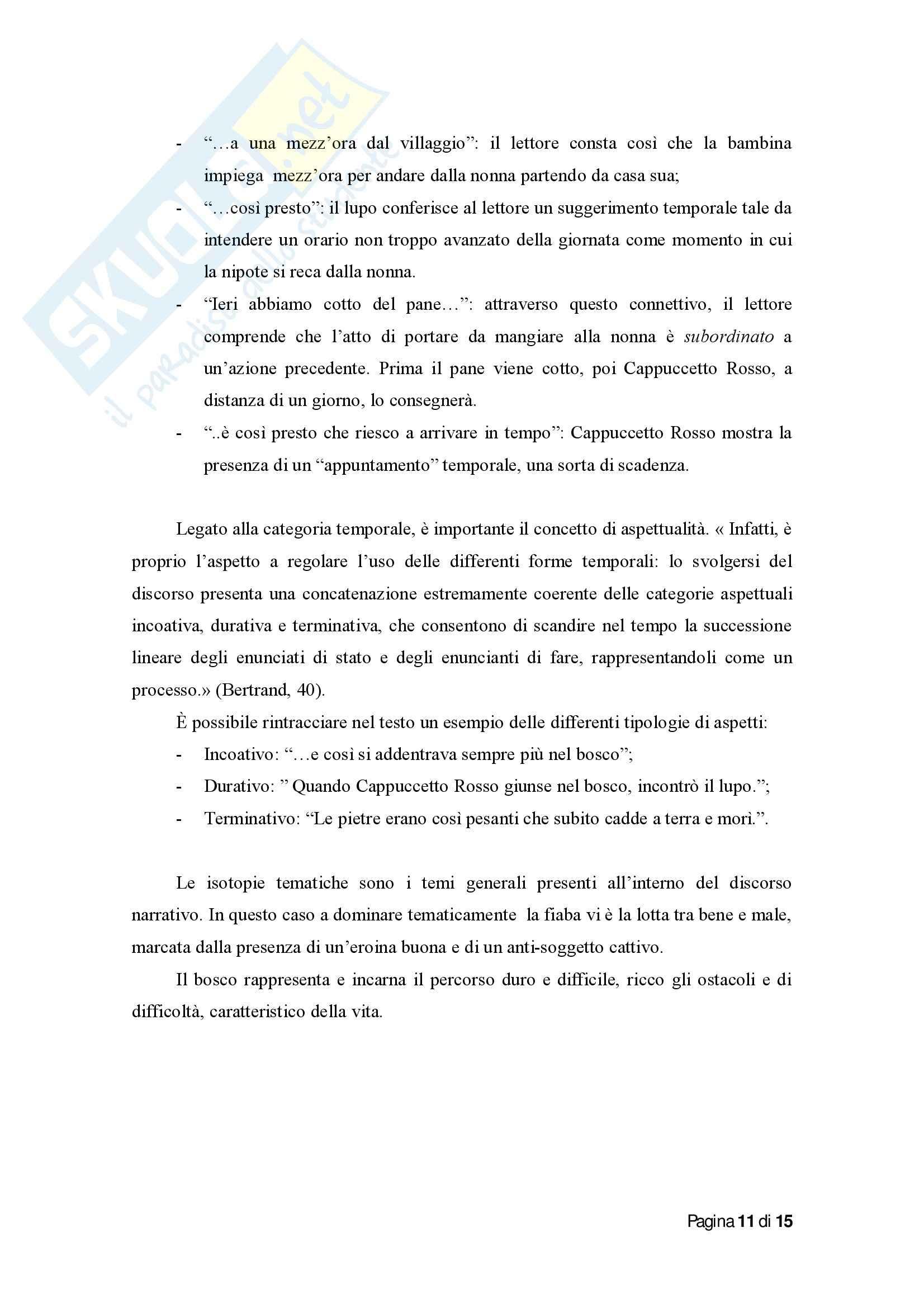 Tesi su Cappuccetto Rosso per Analisi semiotica Pag. 11