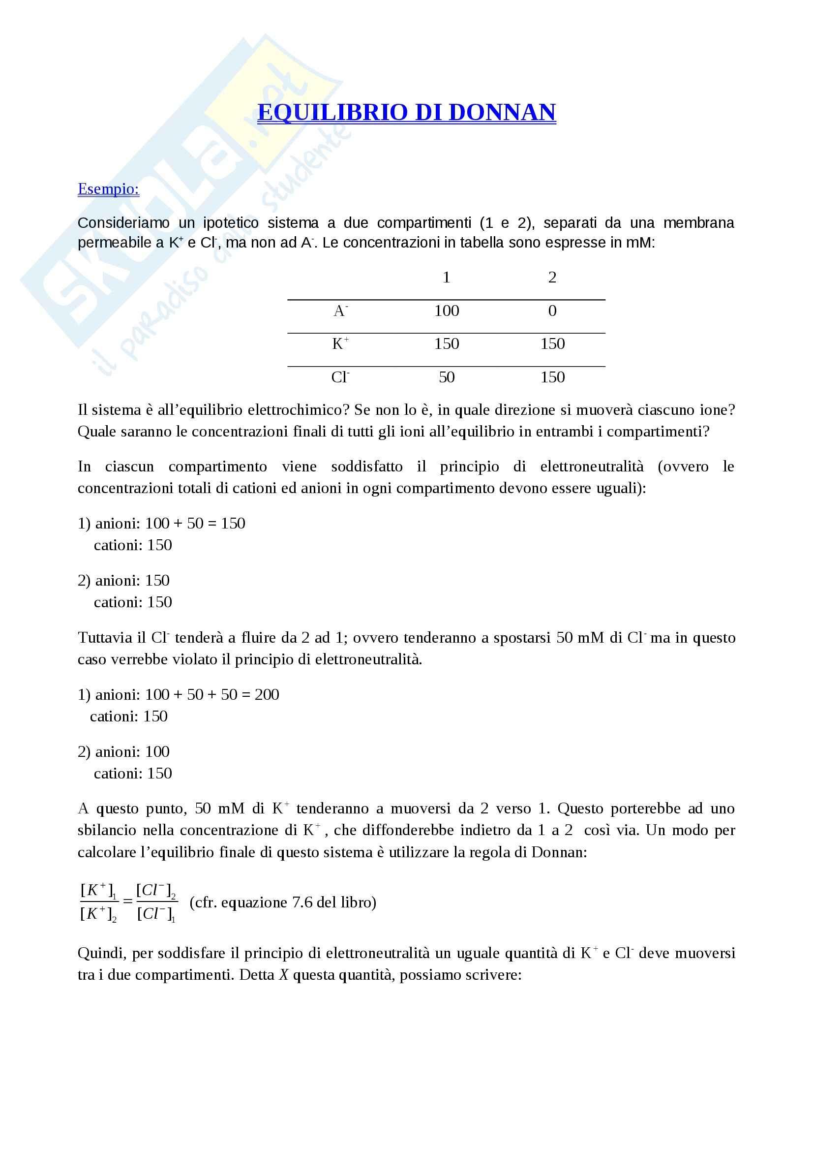 Fisiologia cellulare - esercizi Pag. 2