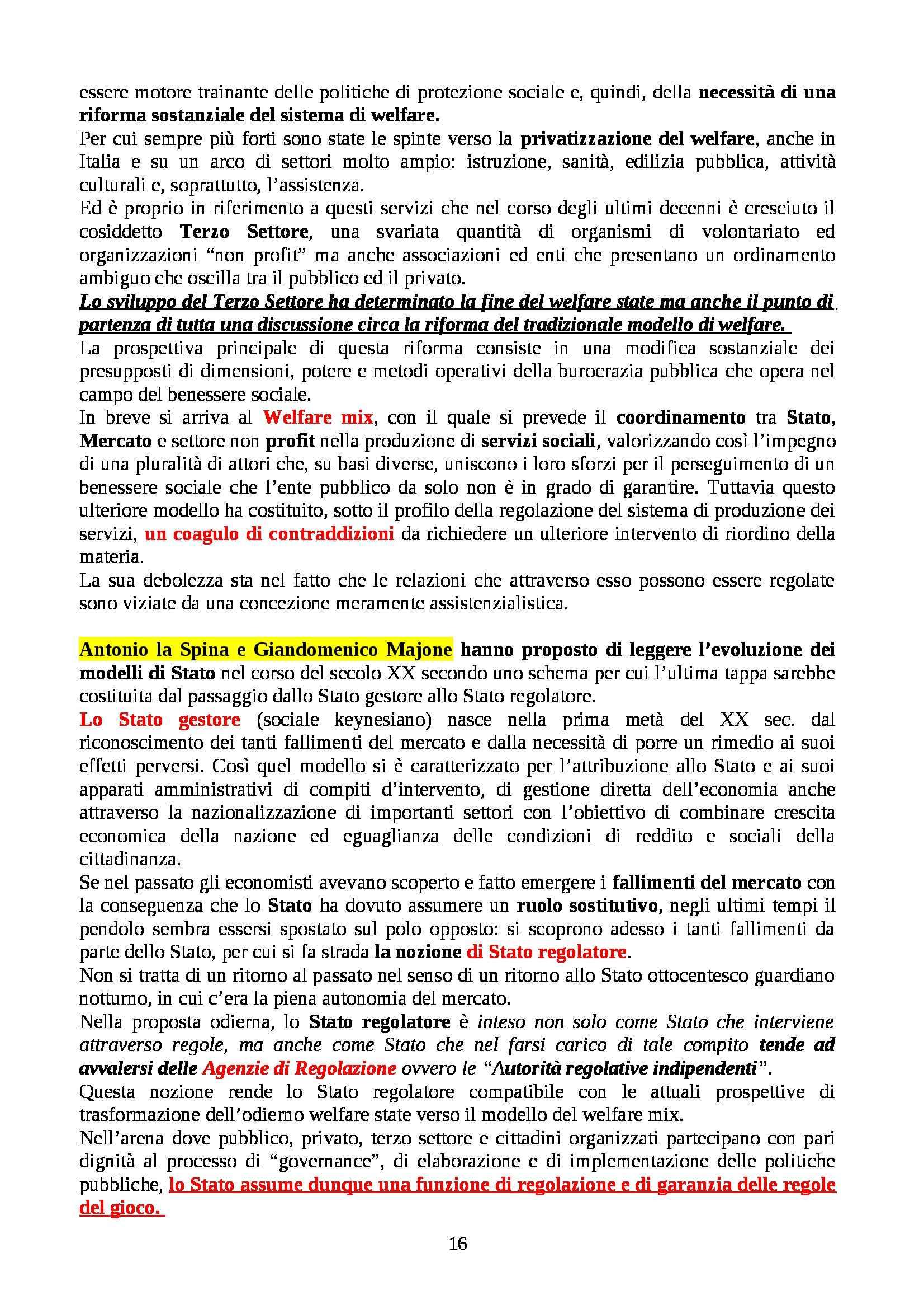 Riassunto esame Scienza dell'Amministrazione, prof. La Bella, libro consigliato L'Analisi della Pubblica Amministrazione, D'Amico Pag. 16