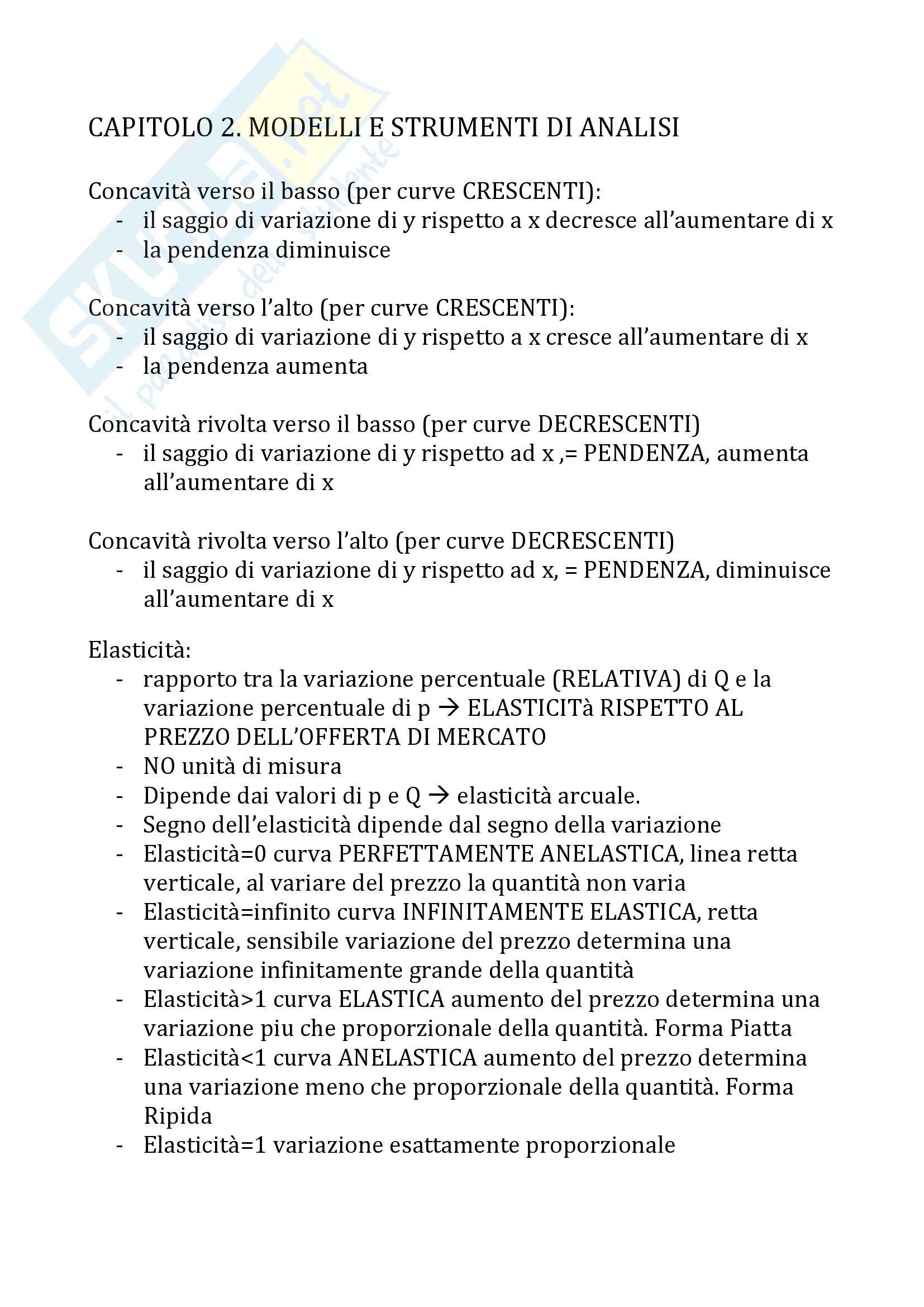 Economia Politica -  Schemi del Prof. Antonelli