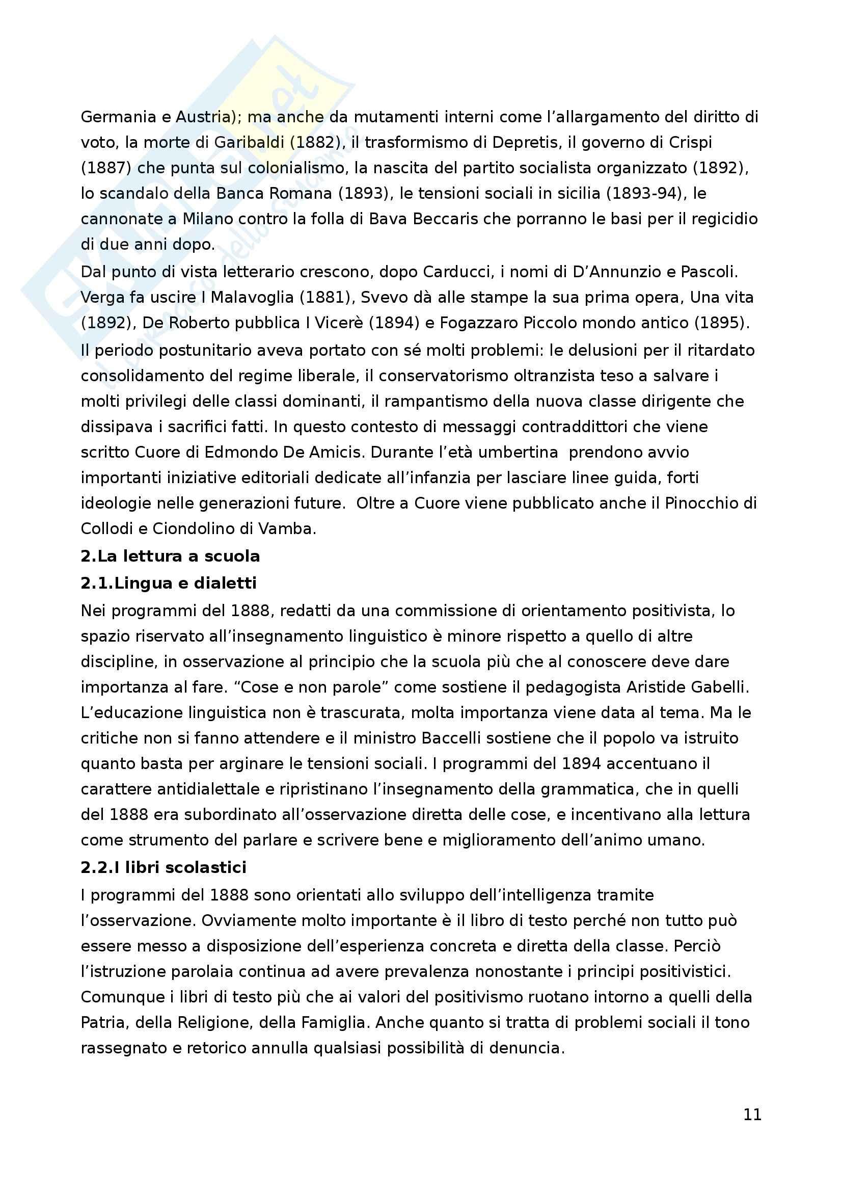 Riassunto esame Letteratura per l'Infanzia, prof. Boero, libro consigliato La Letteratura per l'Infanzia Pag. 11