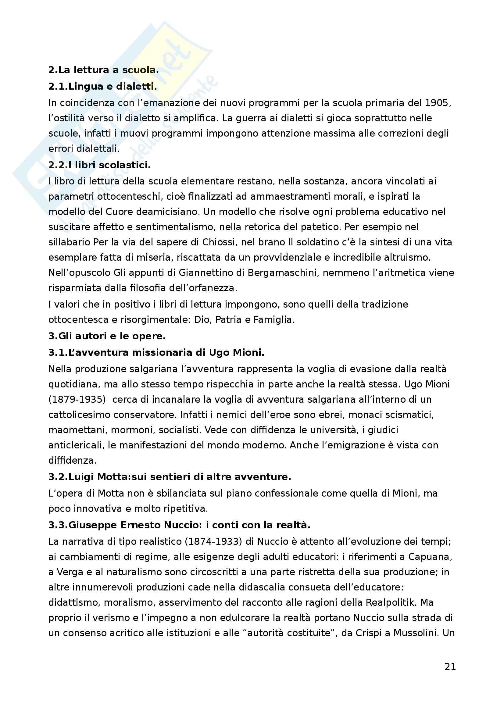 Riassunto esame Letteratura per l'Infanzia, prof. Boero, libro consigliato La Letteratura per l'Infanzia Pag. 21