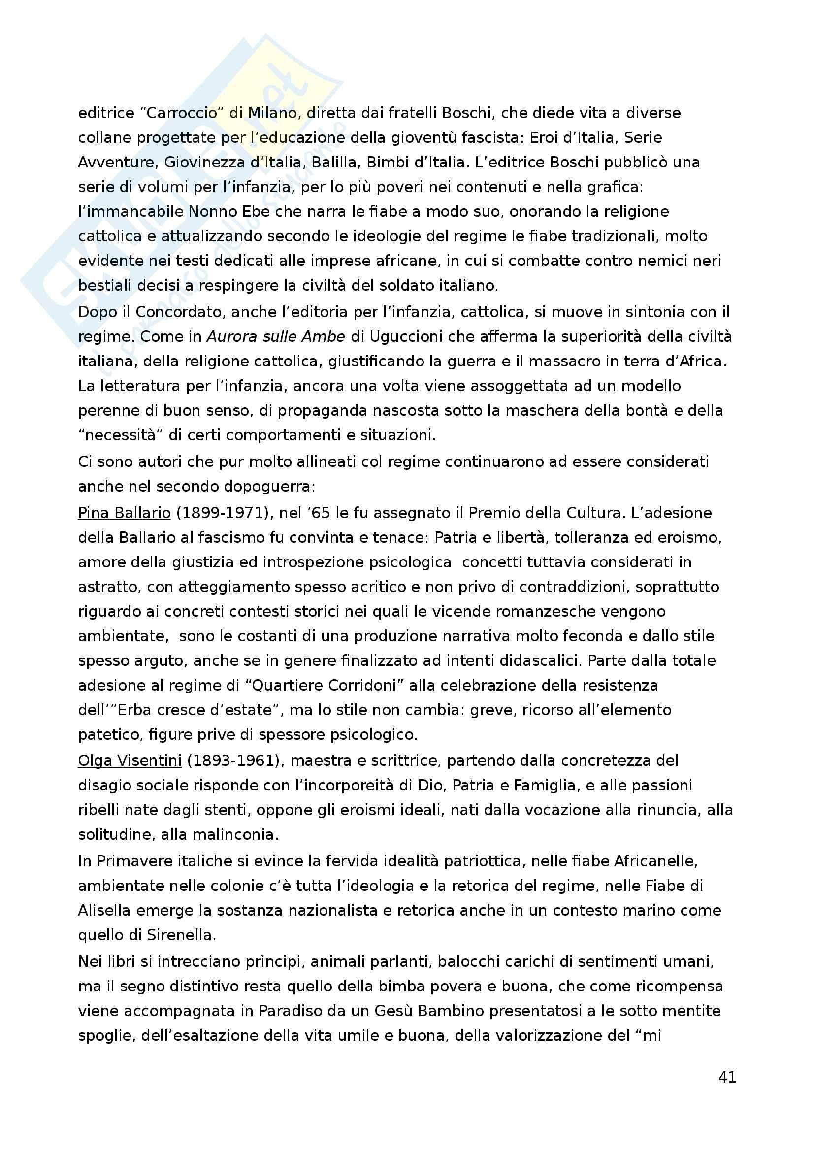 Riassunto esame Letteratura per l'Infanzia, prof. Boero, libro consigliato La Letteratura per l'Infanzia Pag. 41