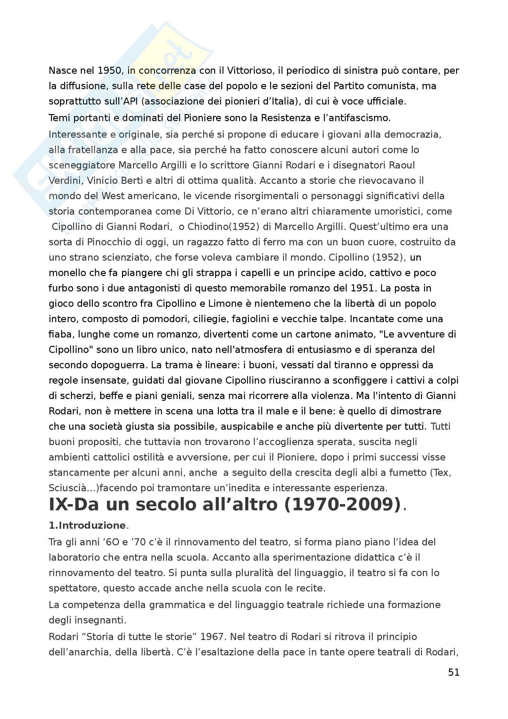 Riassunto esame Letteratura per l'Infanzia, prof. Boero, libro consigliato La Letteratura per l'Infanzia Pag. 51