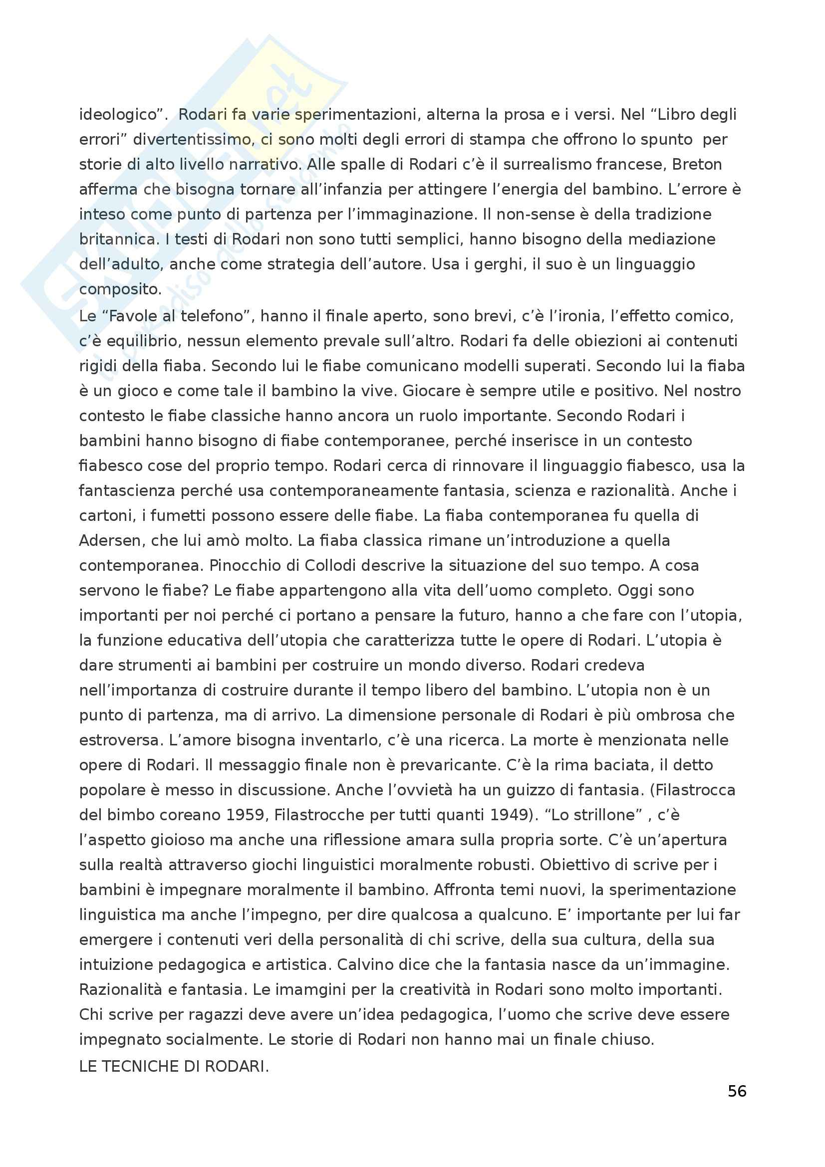 Riassunto esame Letteratura per l'Infanzia, prof. Boero, libro consigliato La Letteratura per l'Infanzia Pag. 56