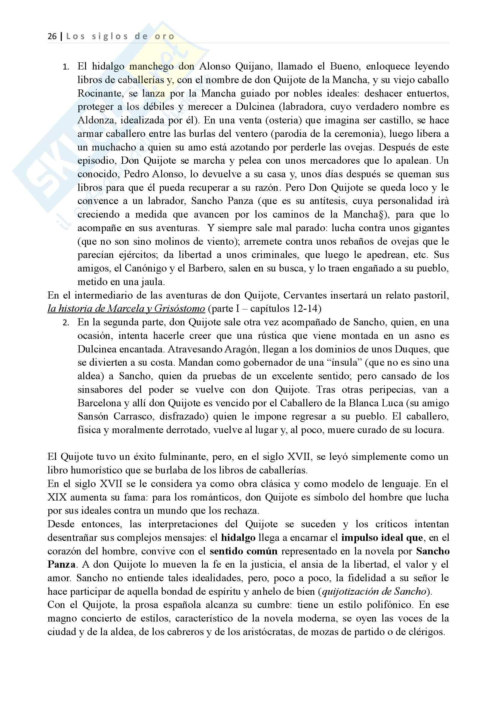 Los siglos de oro, Letteratura spagnola II Pag. 26