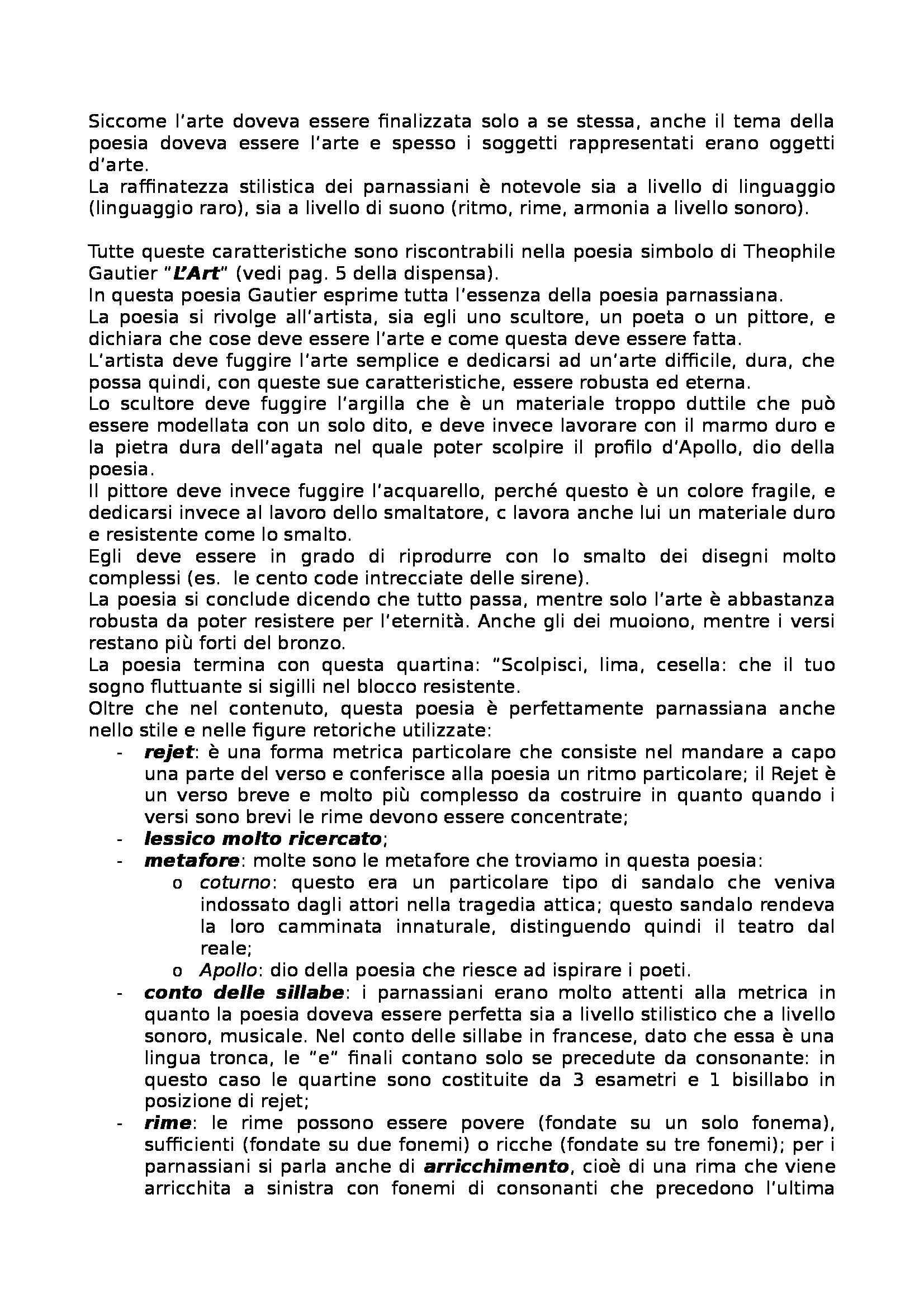 Letteratura francese - Les Fleurs du Mal, Baudelaire Pag. 6