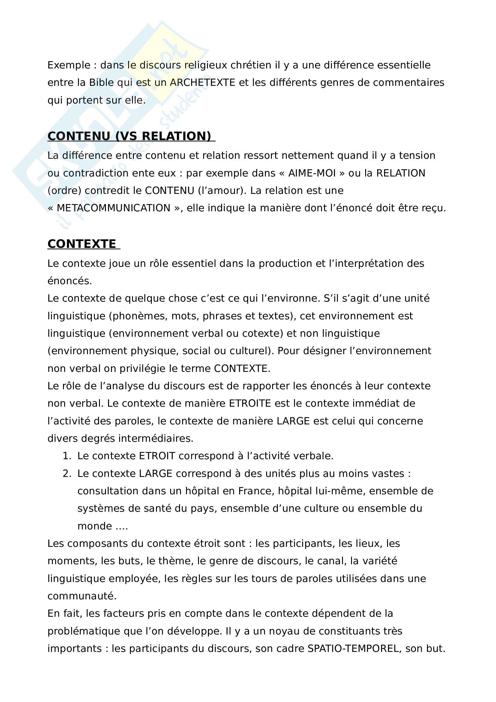 Analyse du discours Pag. 2