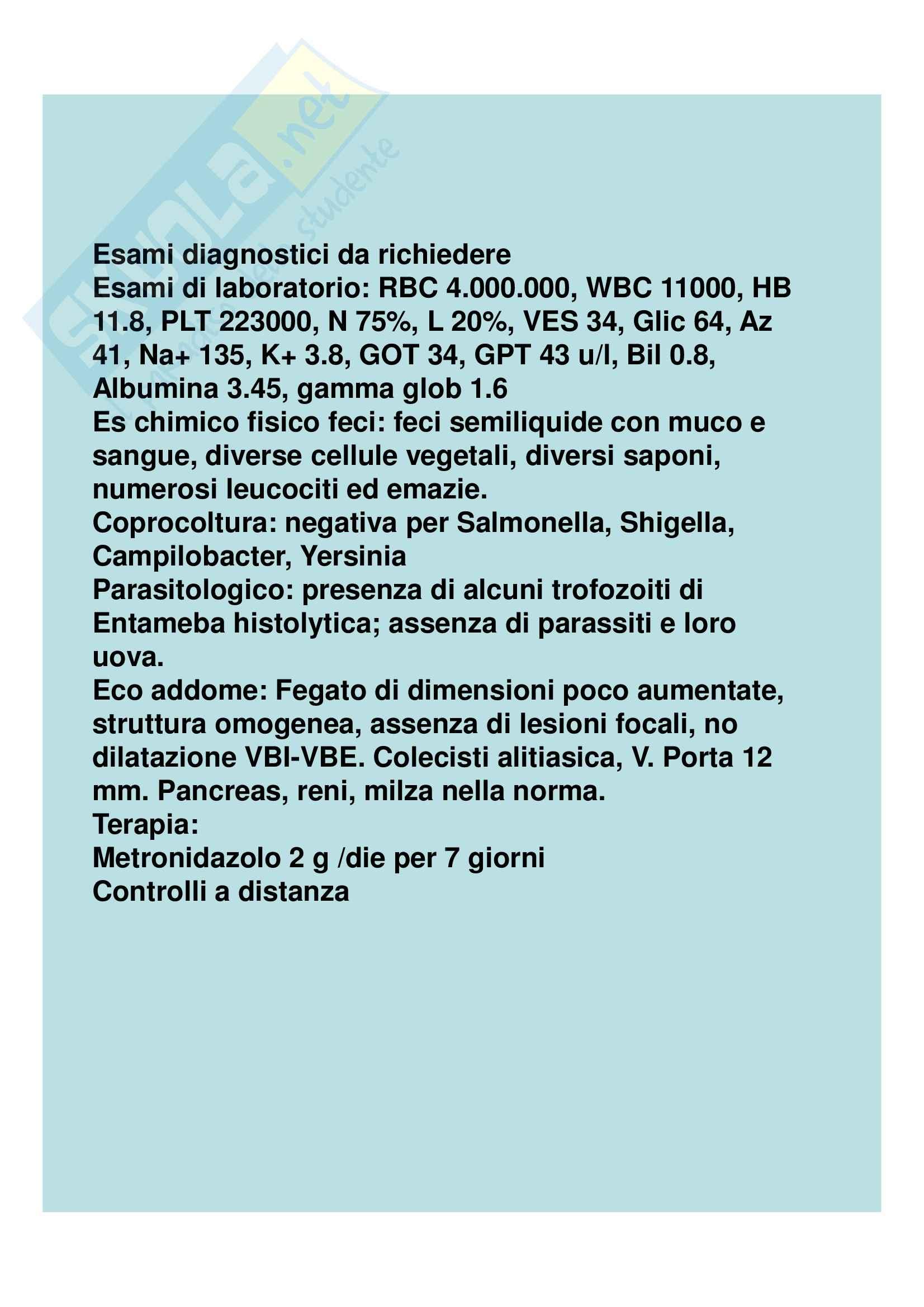 Medicina interna - diarrea cronica Pag. 36