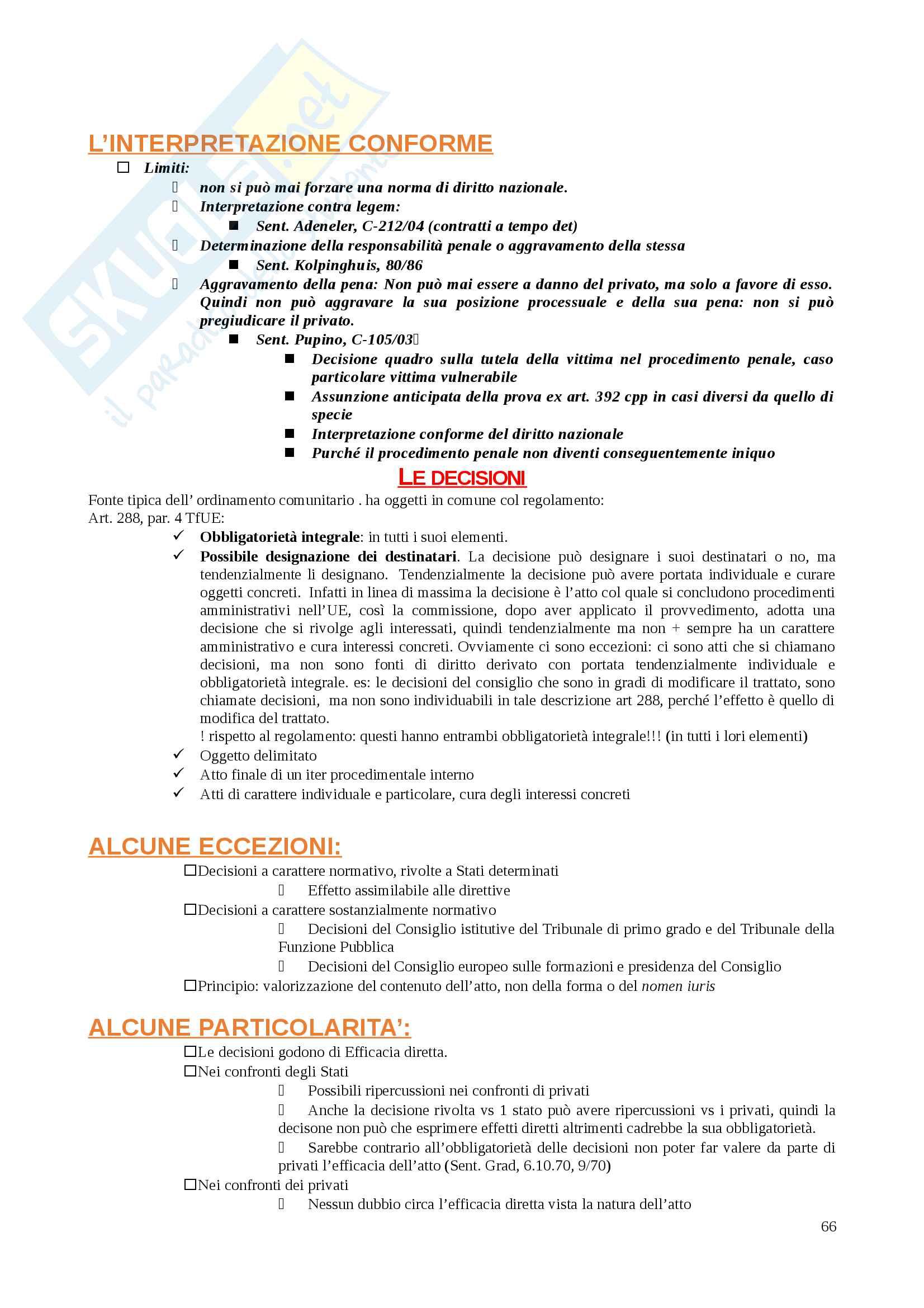 Appunti Diritto dell'Unione Europea Pag. 66