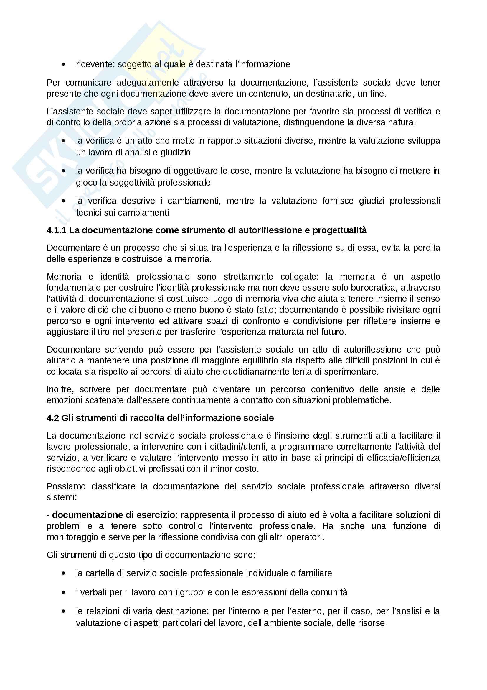 Riassunto per l'esame di tecniche e strumenti del servizio sociale della prof Rovai, Manuale consigliato Assistenti sociali professionisti, Zilianti, Rovai Pag. 26
