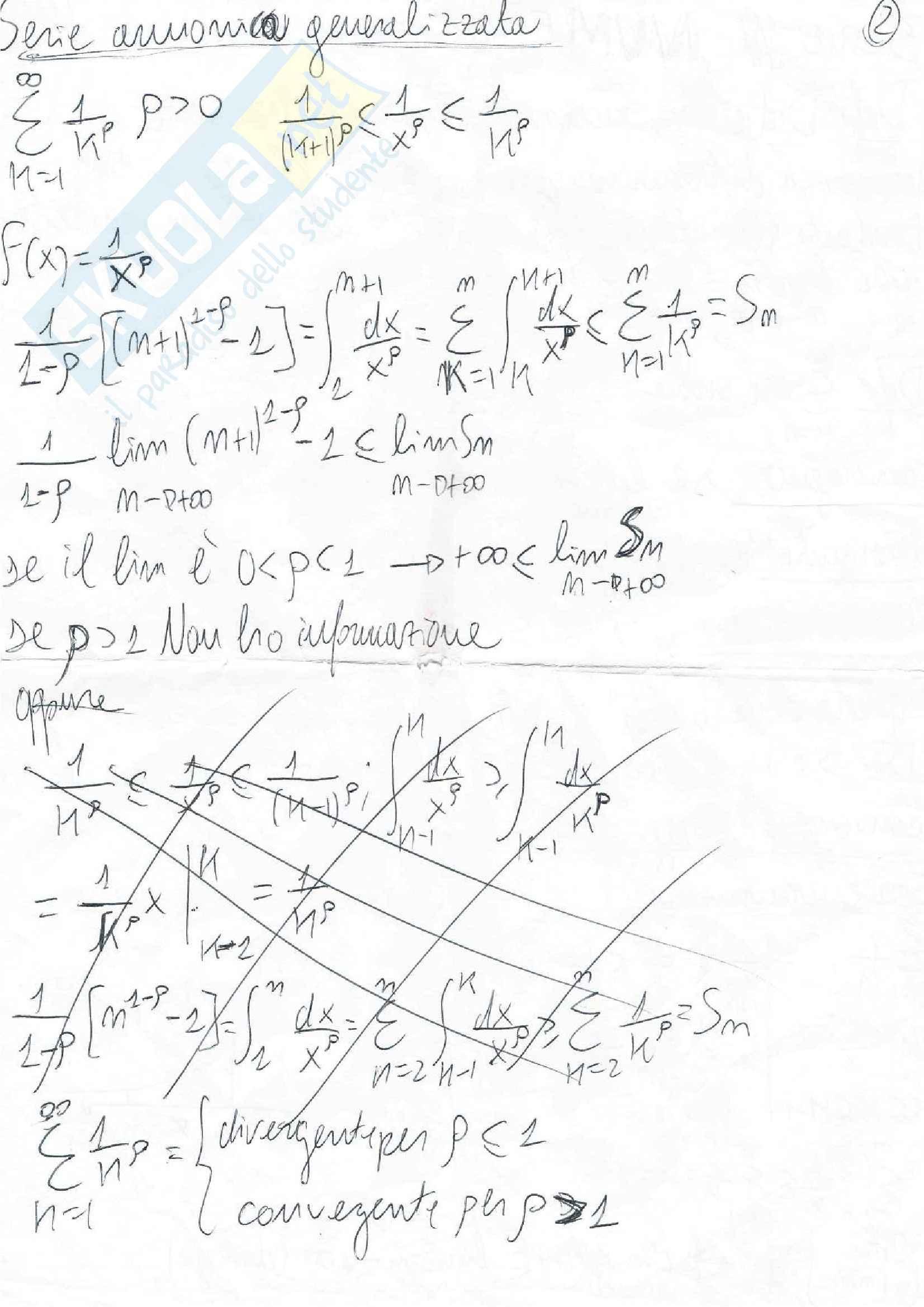Serie numeriche e di potenza, Analisi matematica II Pag. 2