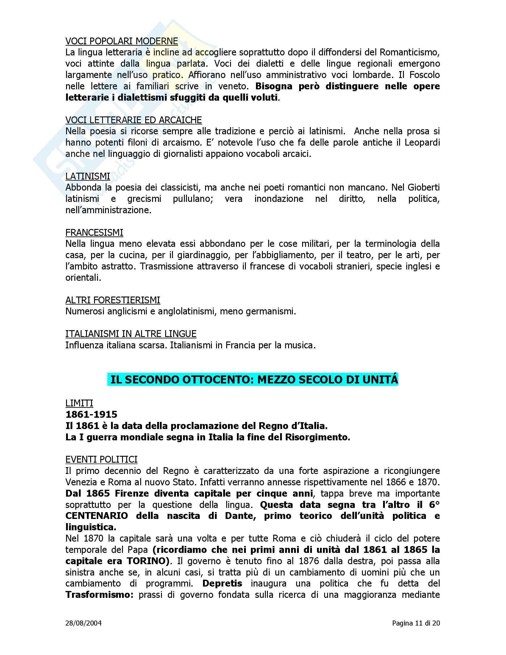 Tecniche espressive e composizioni in Italiano - Storia della lingua italiana Pag. 11