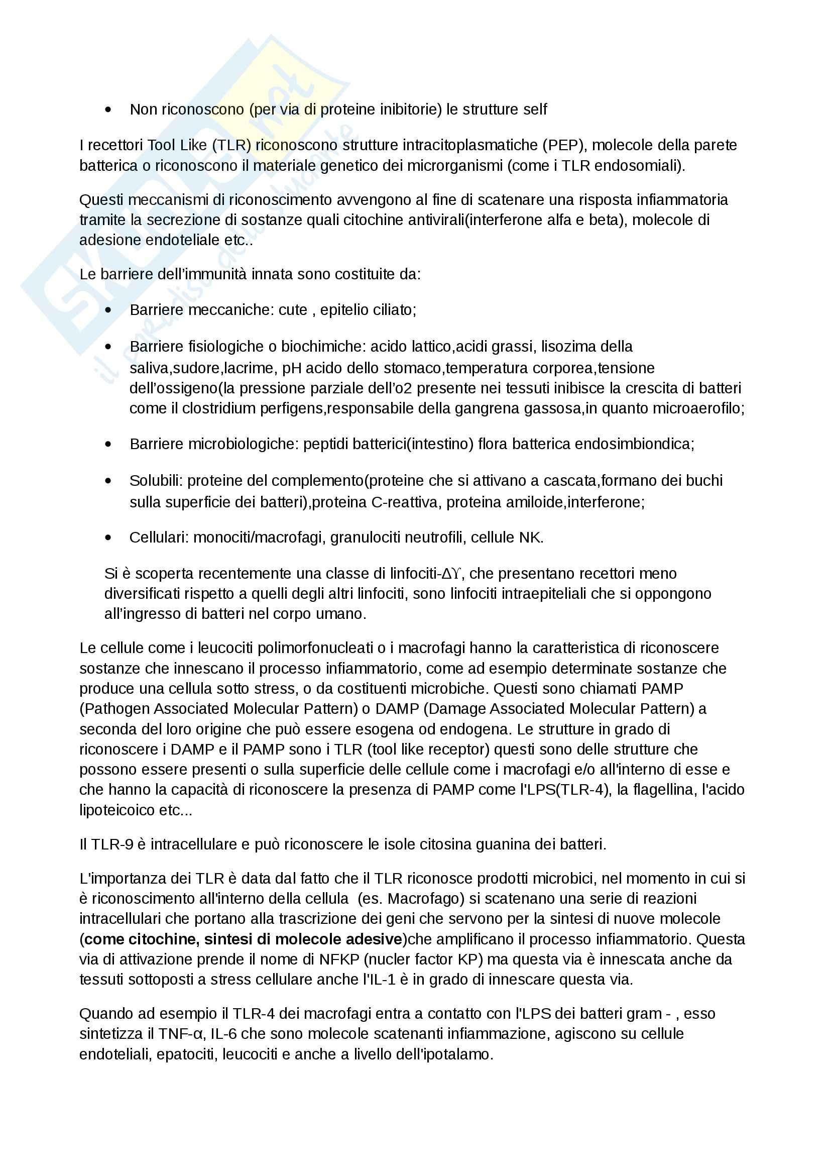 Patologia Generale ed Immunologia Per le Professioni Sanitarie (Infermieristica, TLB, dietistica, TSRM) Pag. 6