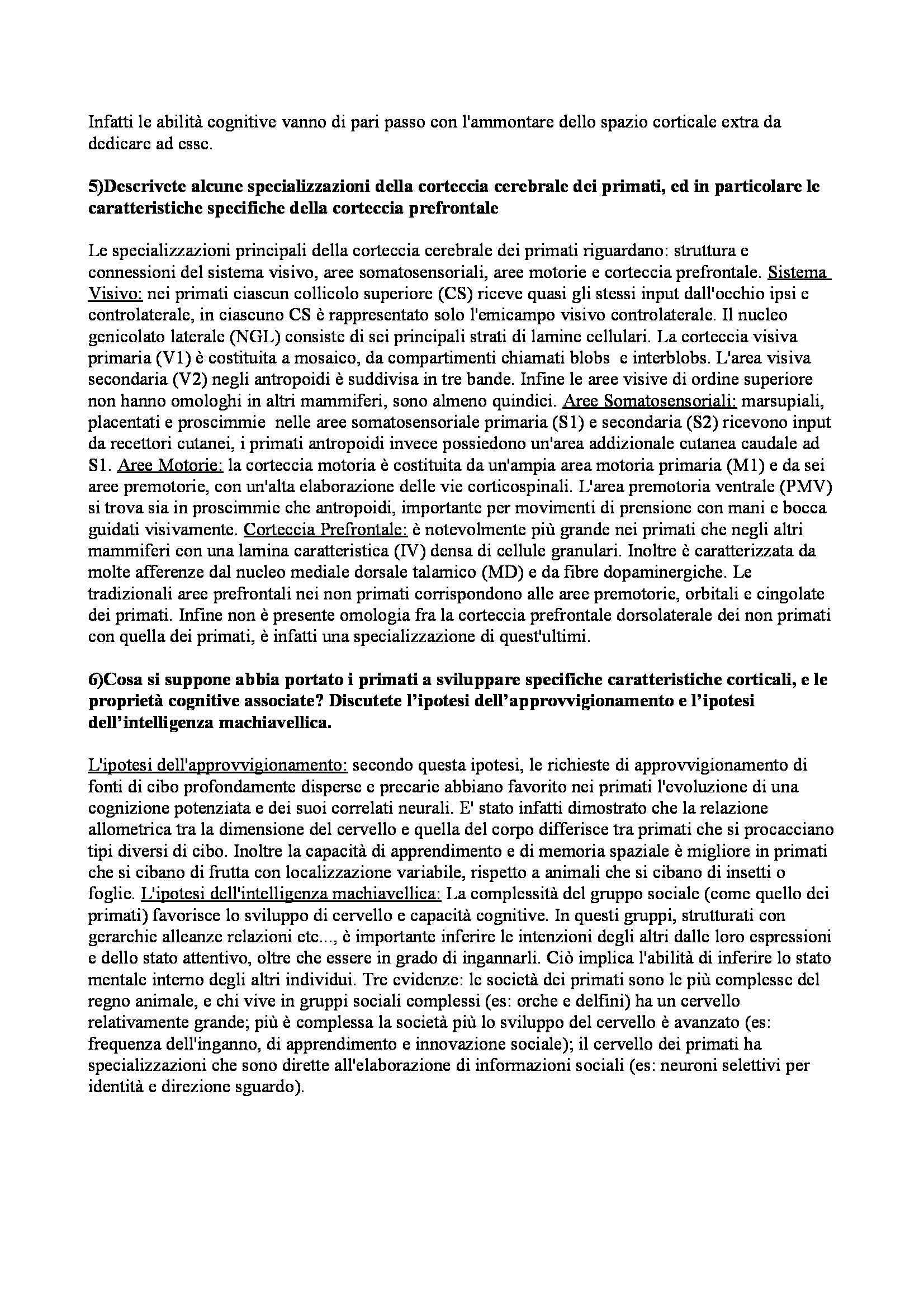 Riassunto esame Neuroscienze Cognitive Pag. 2
