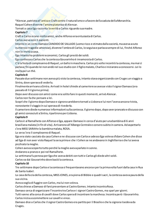Riassunto esame letteratura portoghese e Brasiliana 2, docente Finazzi Agrò, libri consigliati O romantismo em portugual, Fran a e A Literatura brasileia, Amora Pag. 21