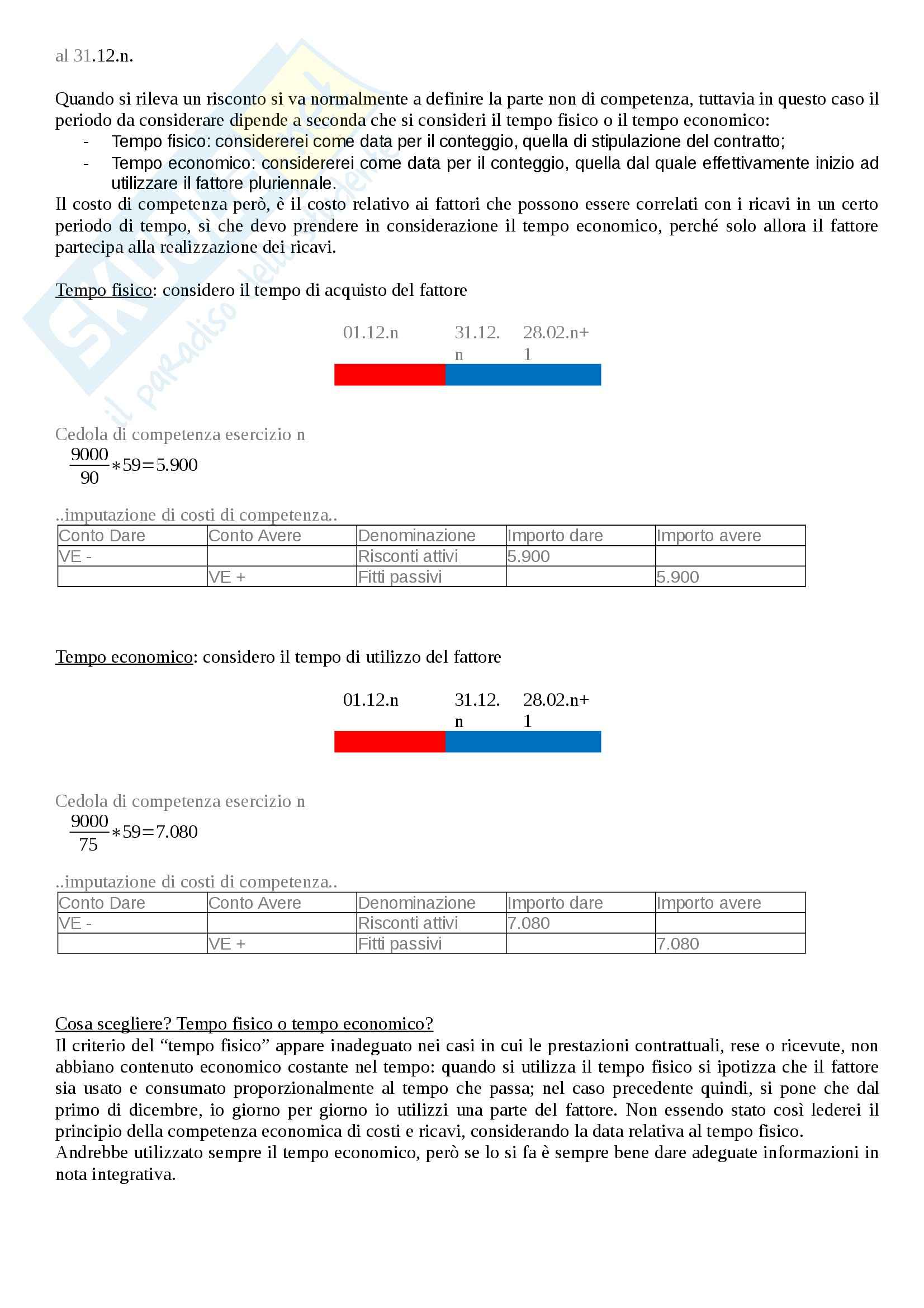 Riassunto esame Ragioneria generale, prof. Poli, libro consigliato Introduzione alla contabilità di impresa, Marchi (prima parte) Pag. 96