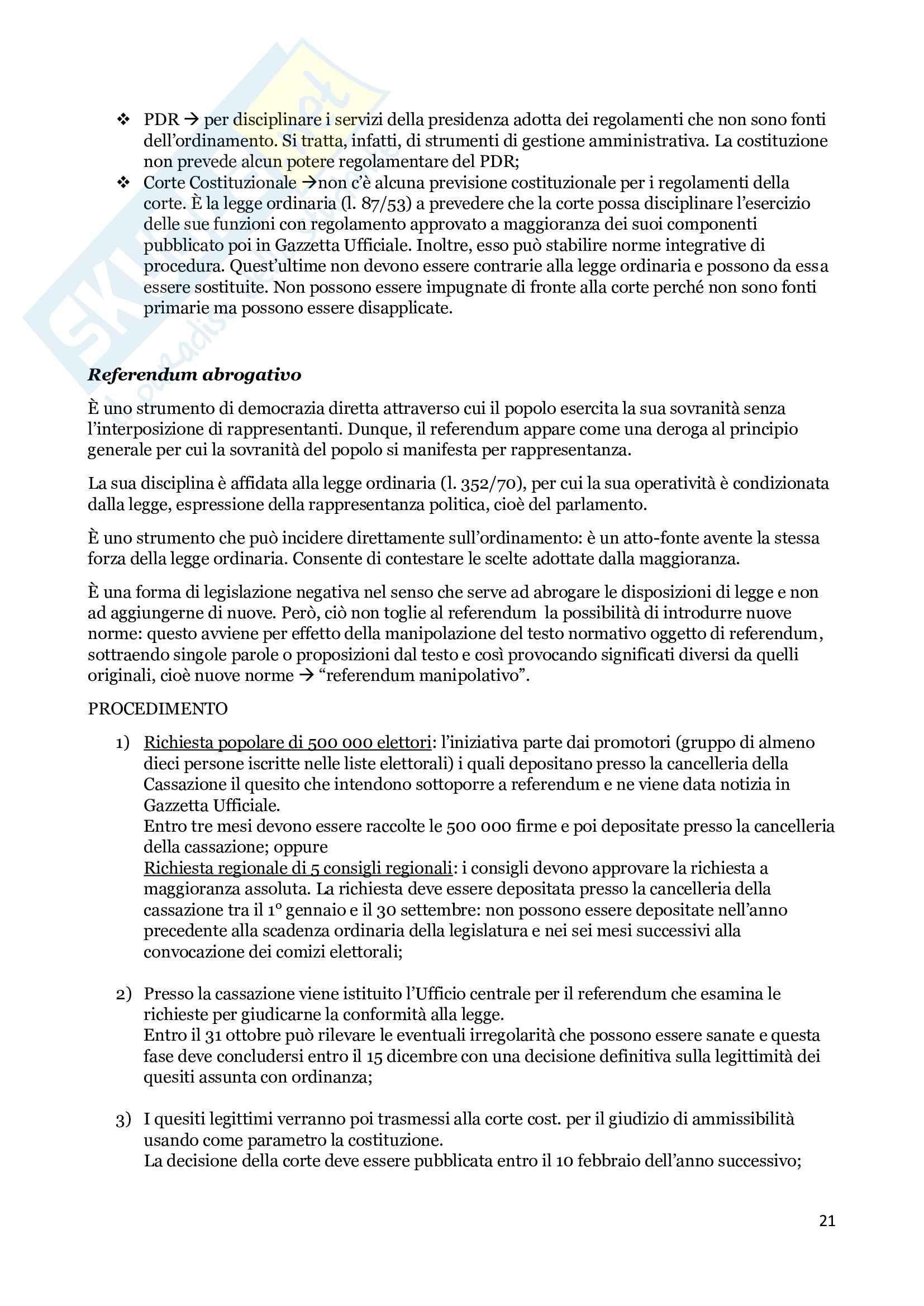 Appunti di diritto costituzionale Pag. 21