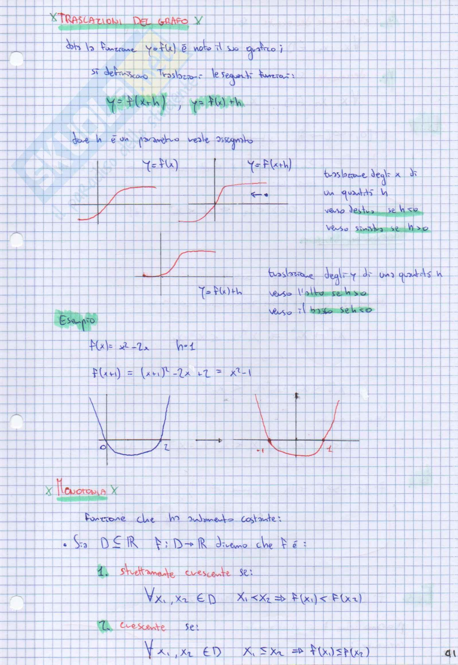 """Analisi 1 Teoria """"Funzioni e Limiti"""" [cap. IV] Pag. 6"""