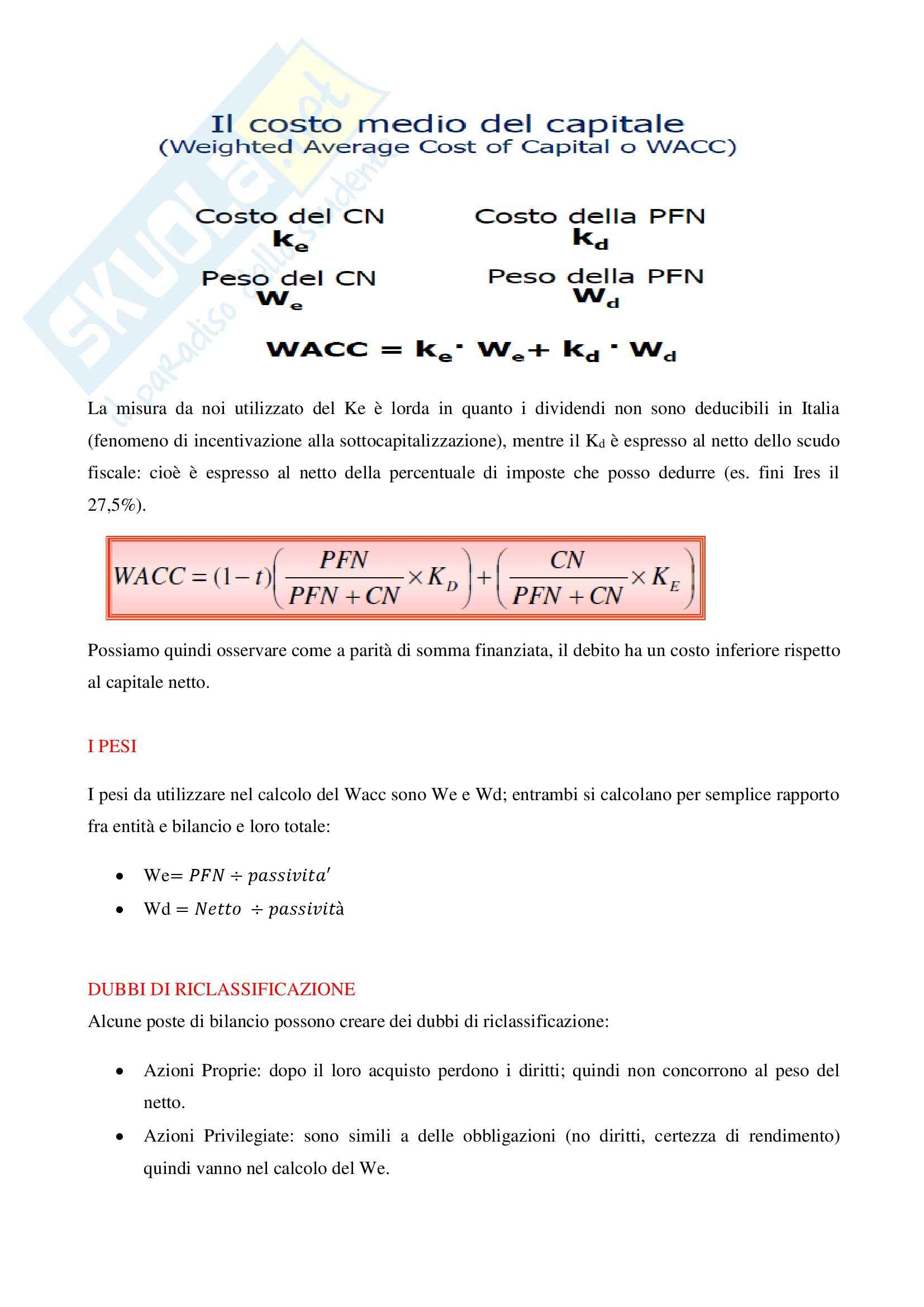 Riassunto esame Valutazione d'azienda, prof. Liberatore Pag. 6