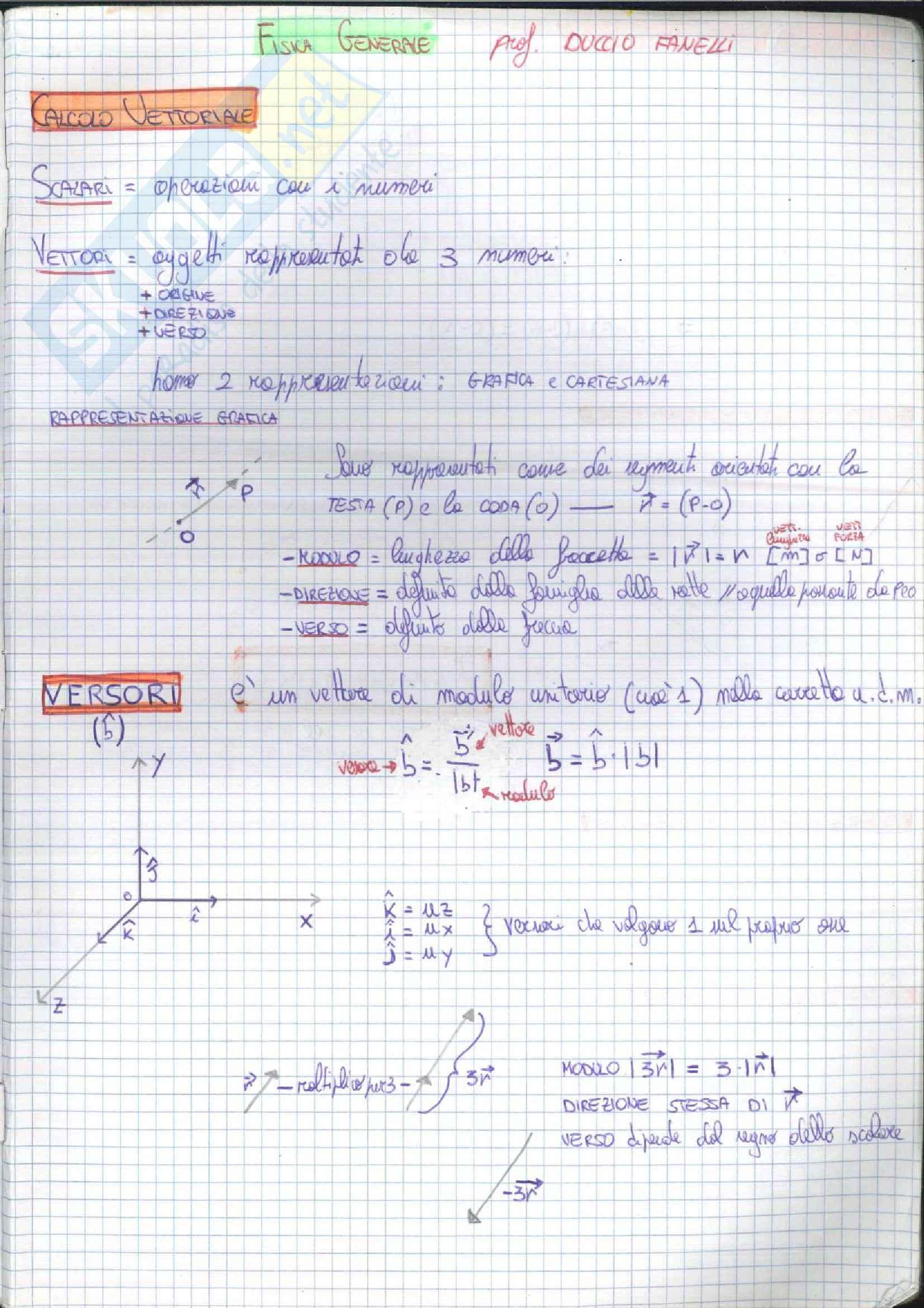 2 di 2 Fisica A Colori - Fisica Meccanica - Cinematica ed Elettromagnetismo, Teoria per Esercizi