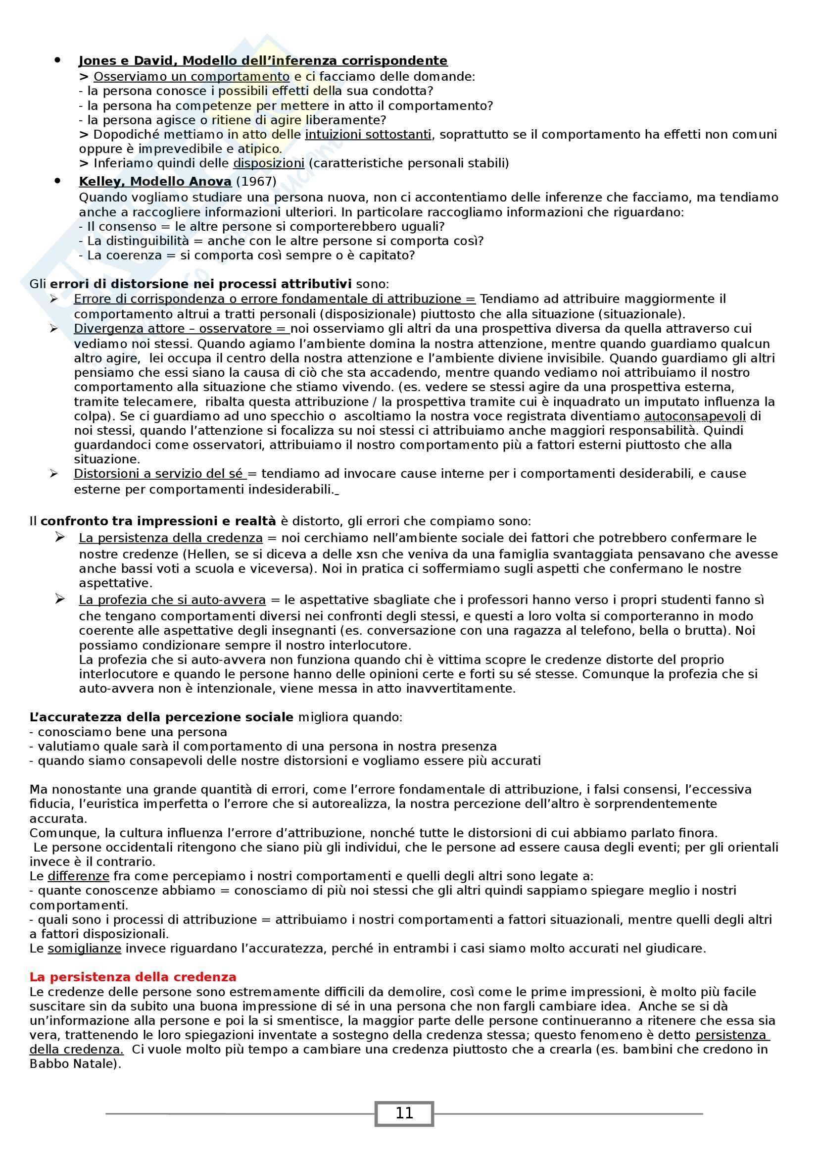Riassunto esame Psicologia Sociale, prof. Paleari, libro consigliato Psicologia Sociale, Myers Pag. 11