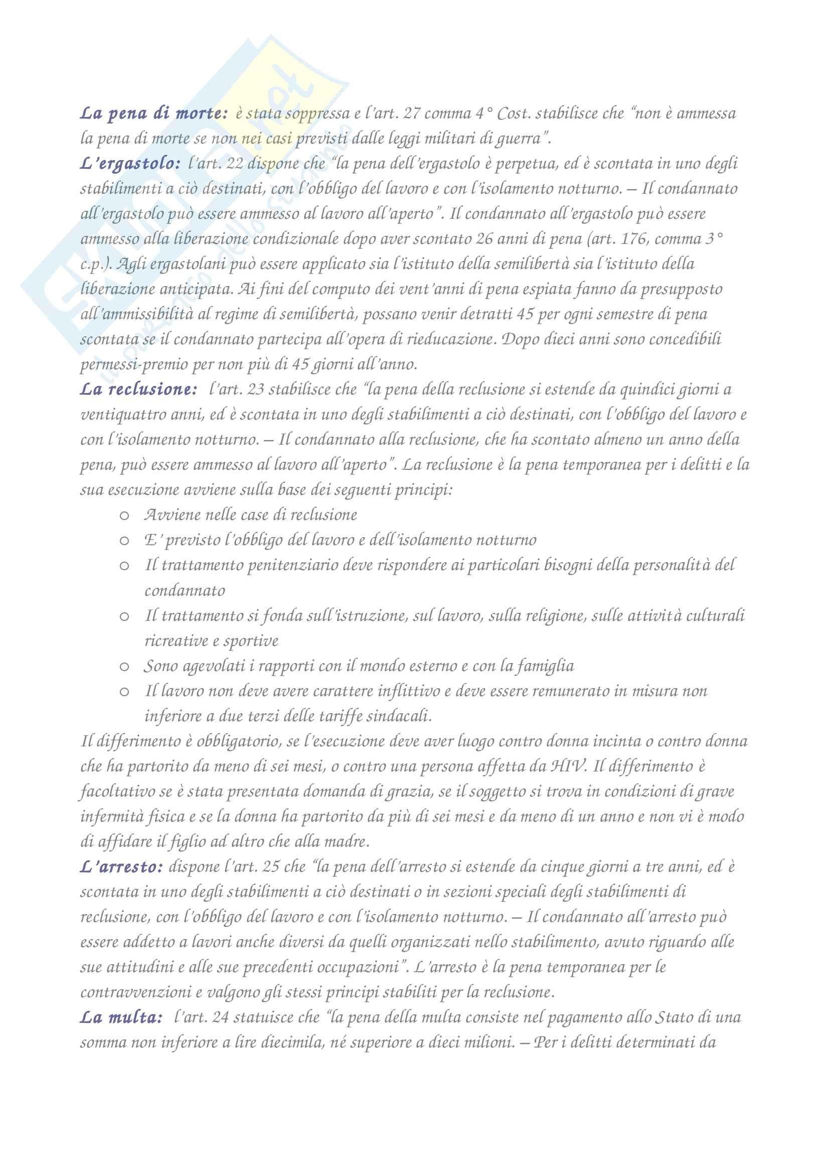 Diritto penale - i presupposti del sistema sanzionatorio vigente Pag. 2