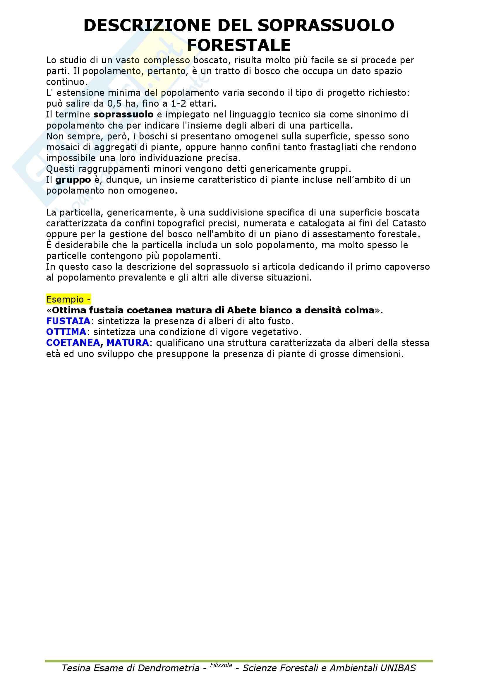 Dendrometria - Appunti Pag. 36