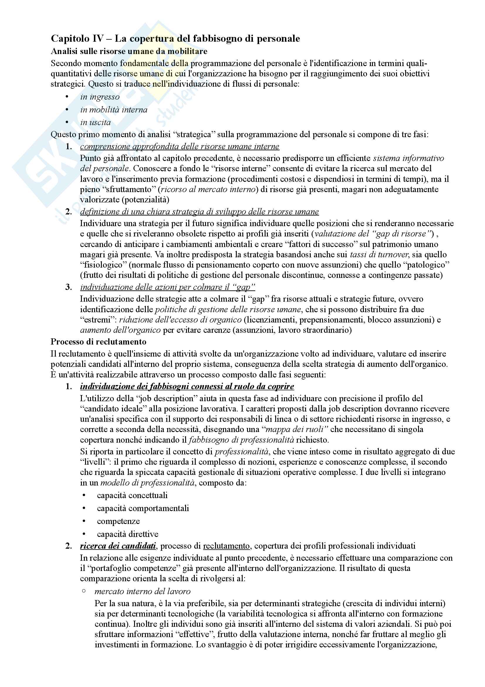 Riassunto esame Organizzazione Aziendale, prof. Cavaliere, libro consigliato Elementi di progettazione organizzativa e cenni di programmazione del personale, D'Anna Pag. 36