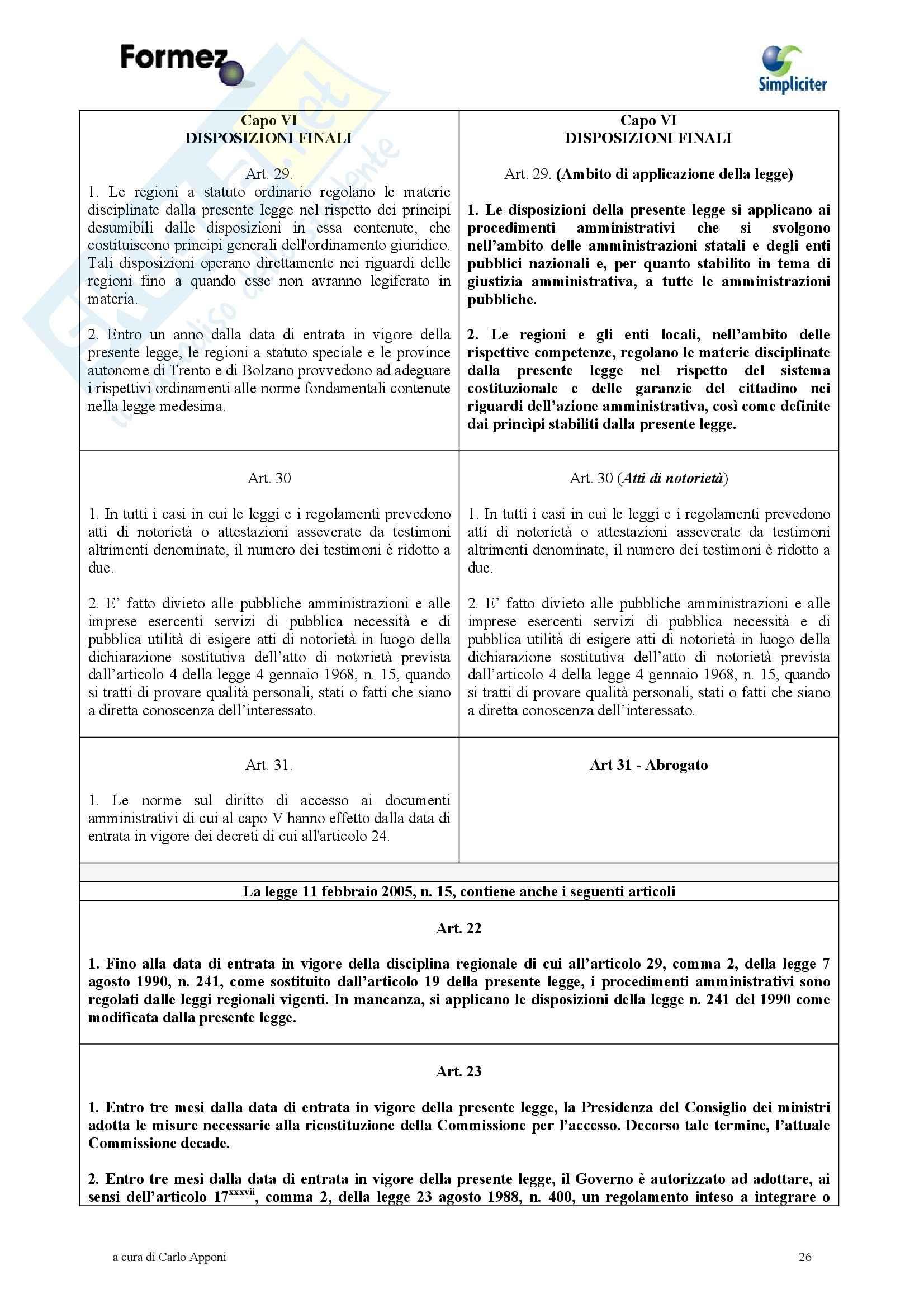 Diritto amministrativo - Legge 241 modificata Pag. 26