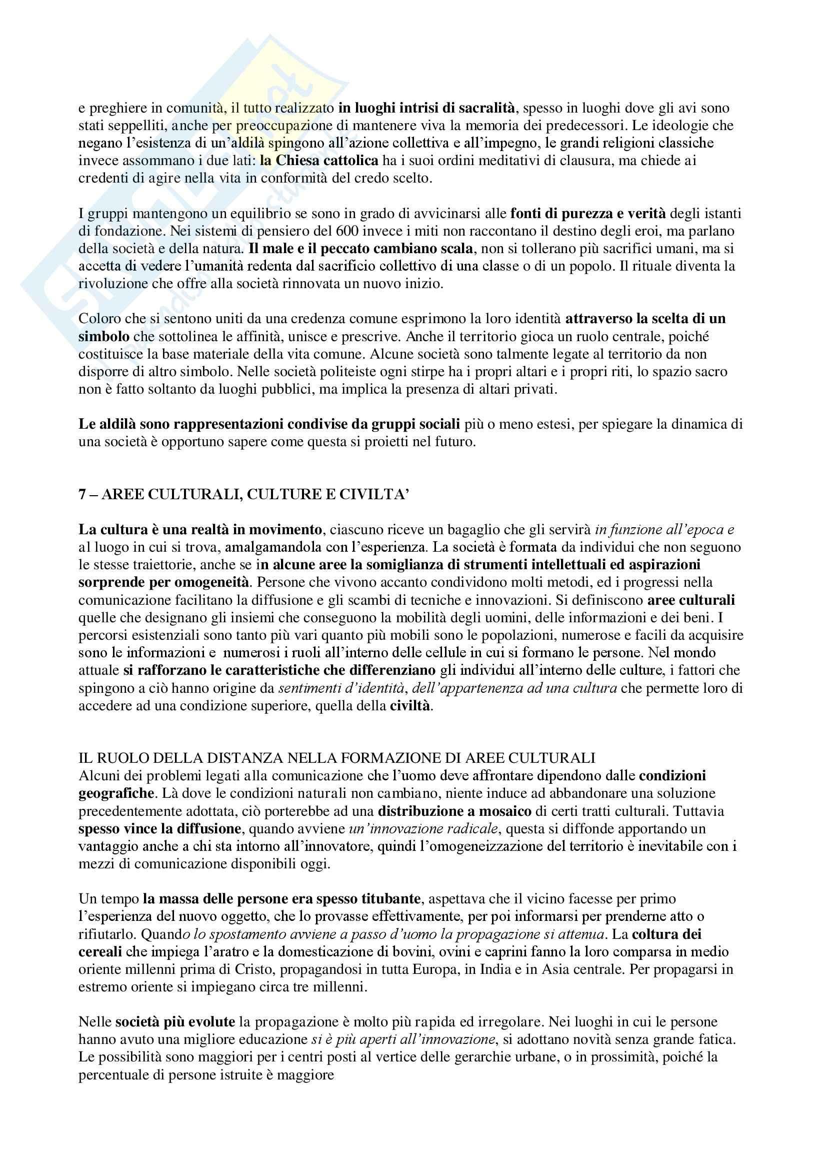 Riassunto esame Geografia culturale, prof. Da Pozzo, libro consigliato La Geografia Culturale, Claval Pag. 11