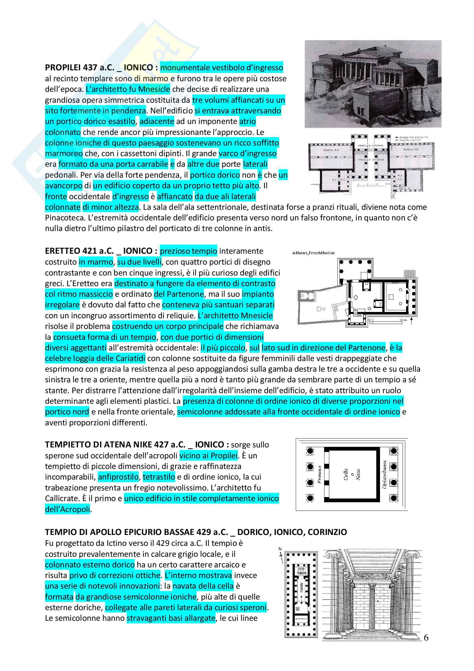 Appunti completi Storia dell'architettura 1+ Immagini Pag. 6
