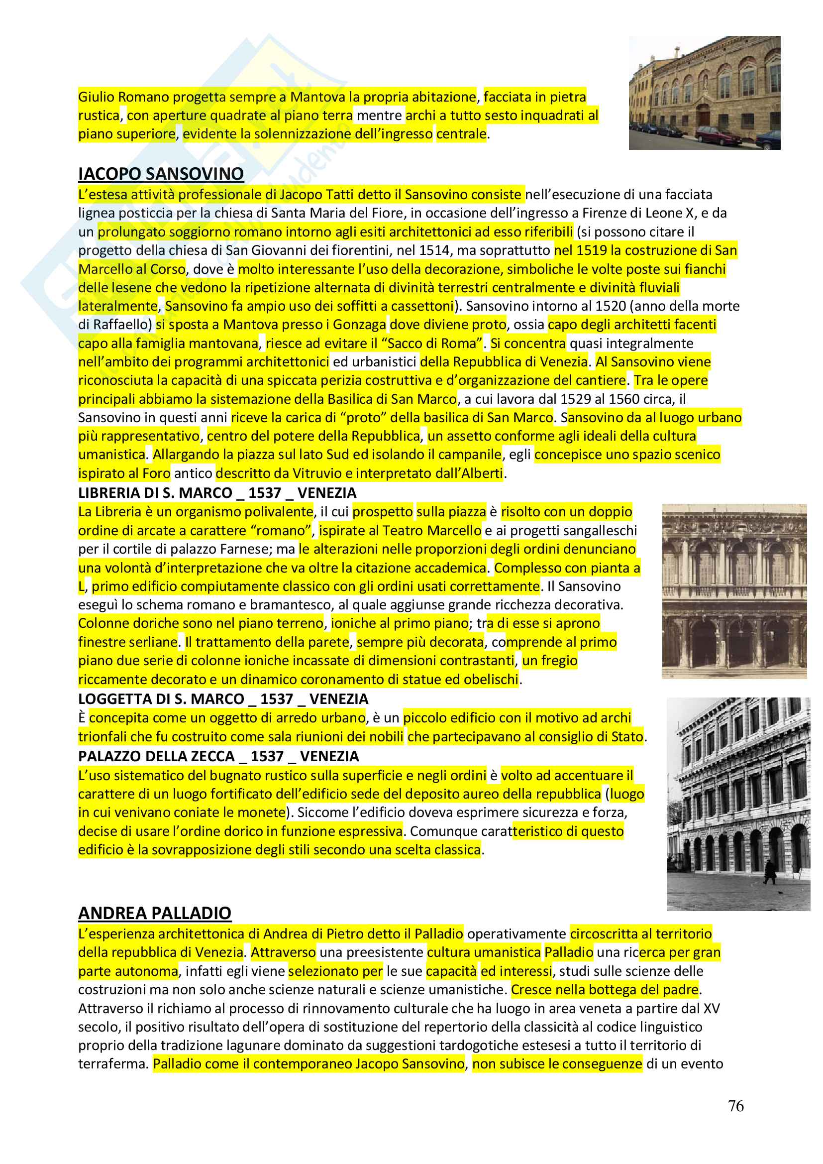 Appunti completi Storia dell'architettura 1+ Immagini Pag. 76