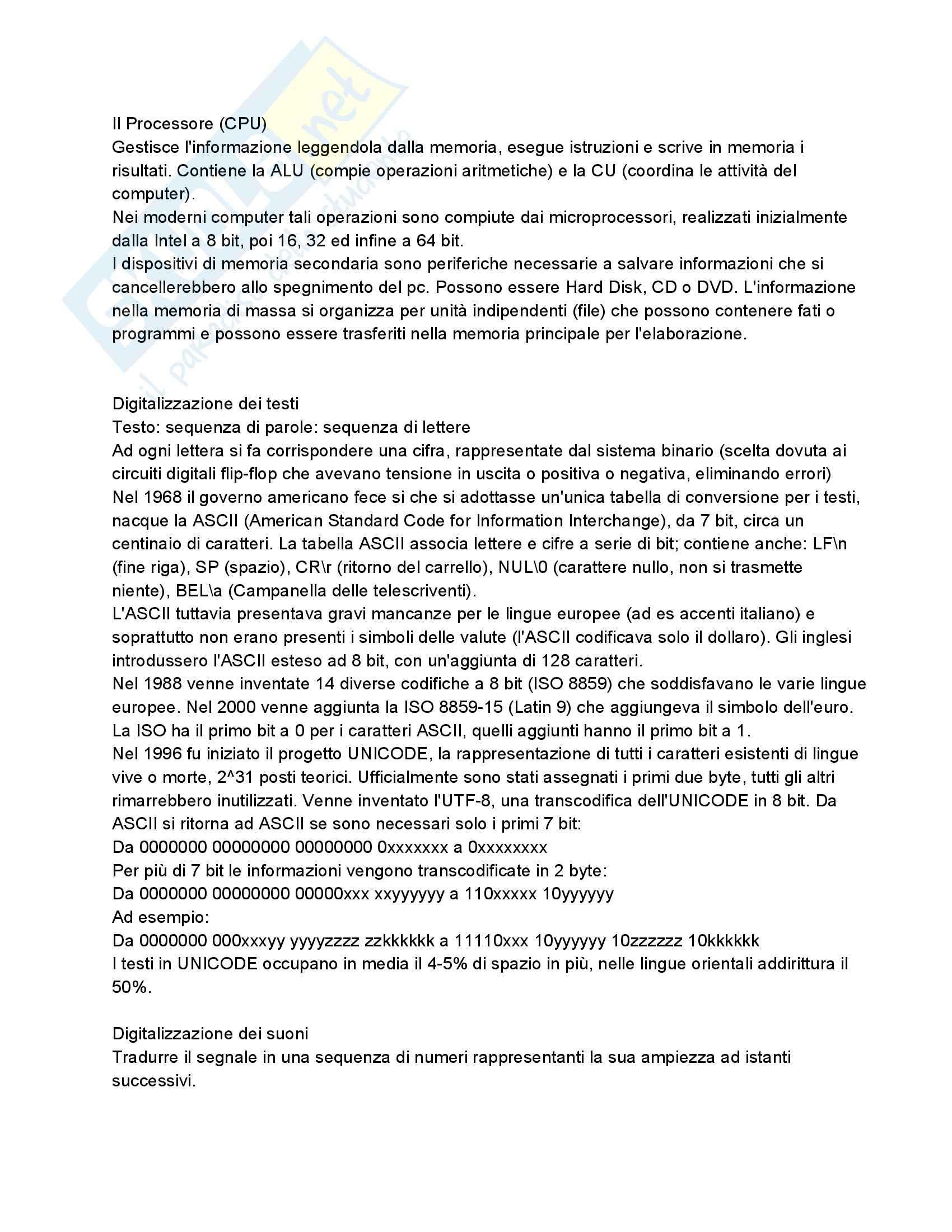 Riassunto esame Fondamenti di Informatica, prof. Dragoni, libro consigliato Fondamenti di Programmazione in C++ di Aguilar Pag. 2