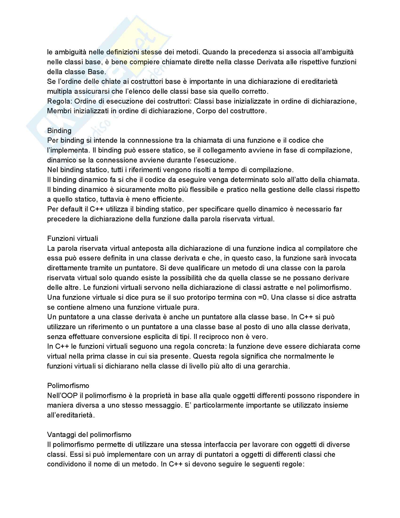 Riassunto esame Fondamenti di Informatica, prof. Dragoni, libro consigliato Fondamenti di Programmazione in C++ di Aguilar Pag. 46
