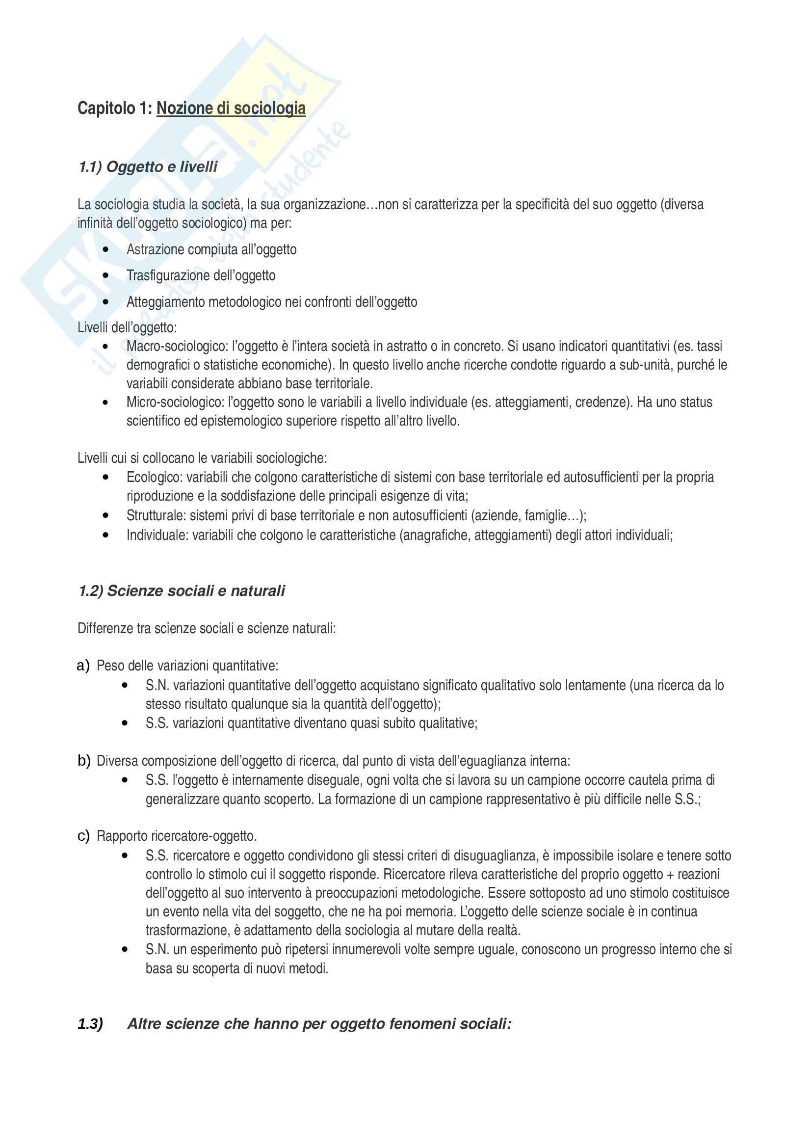 appunto E. Morandi Sociologia generale