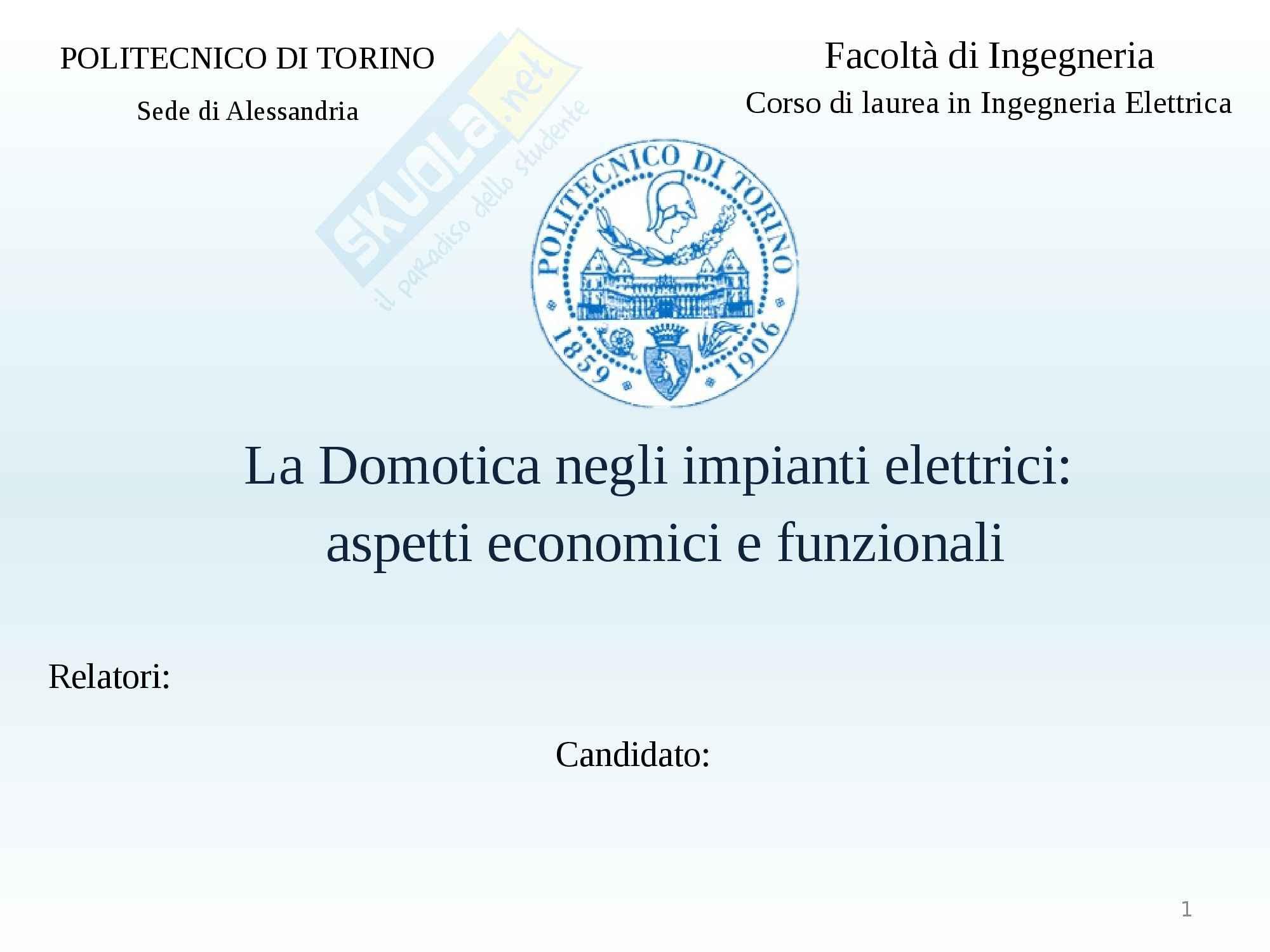 Domotica - Presentazione tesi