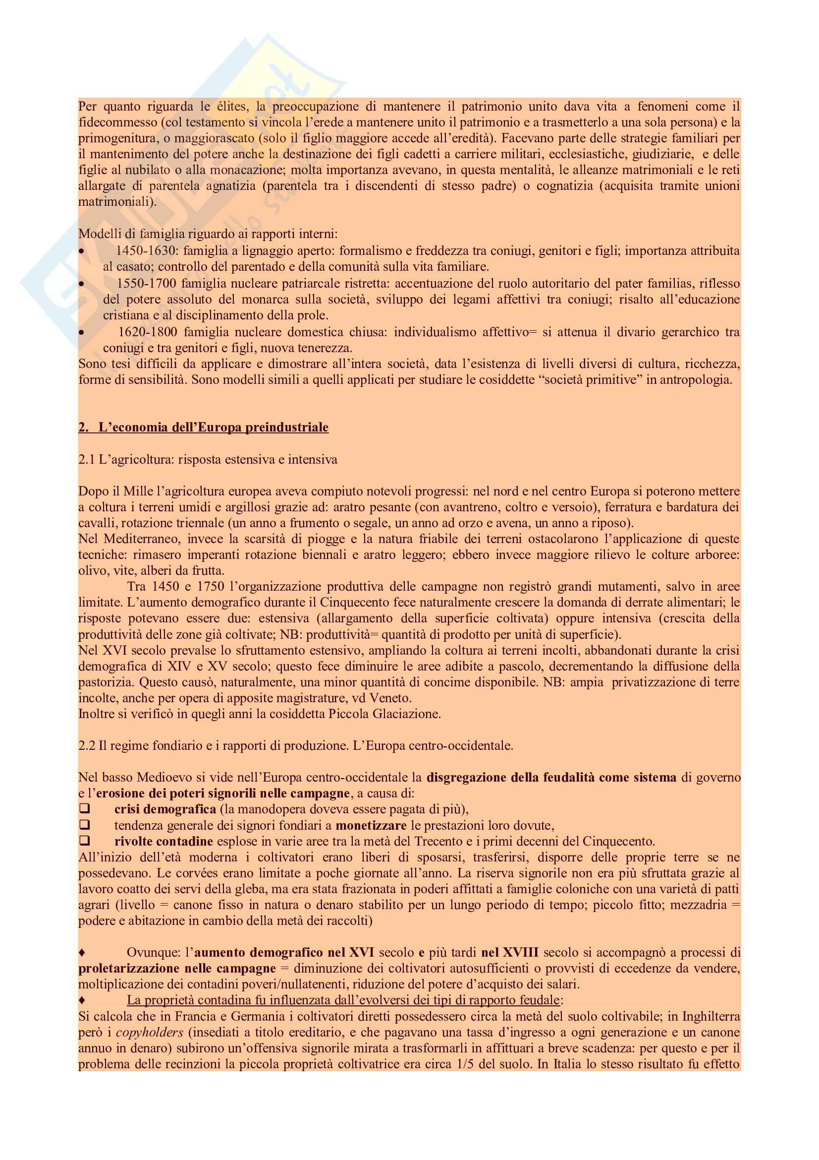 Riassunto esame d Storia, prof. Ago, libro consigliato Storia moderna, Capra Pag. 2